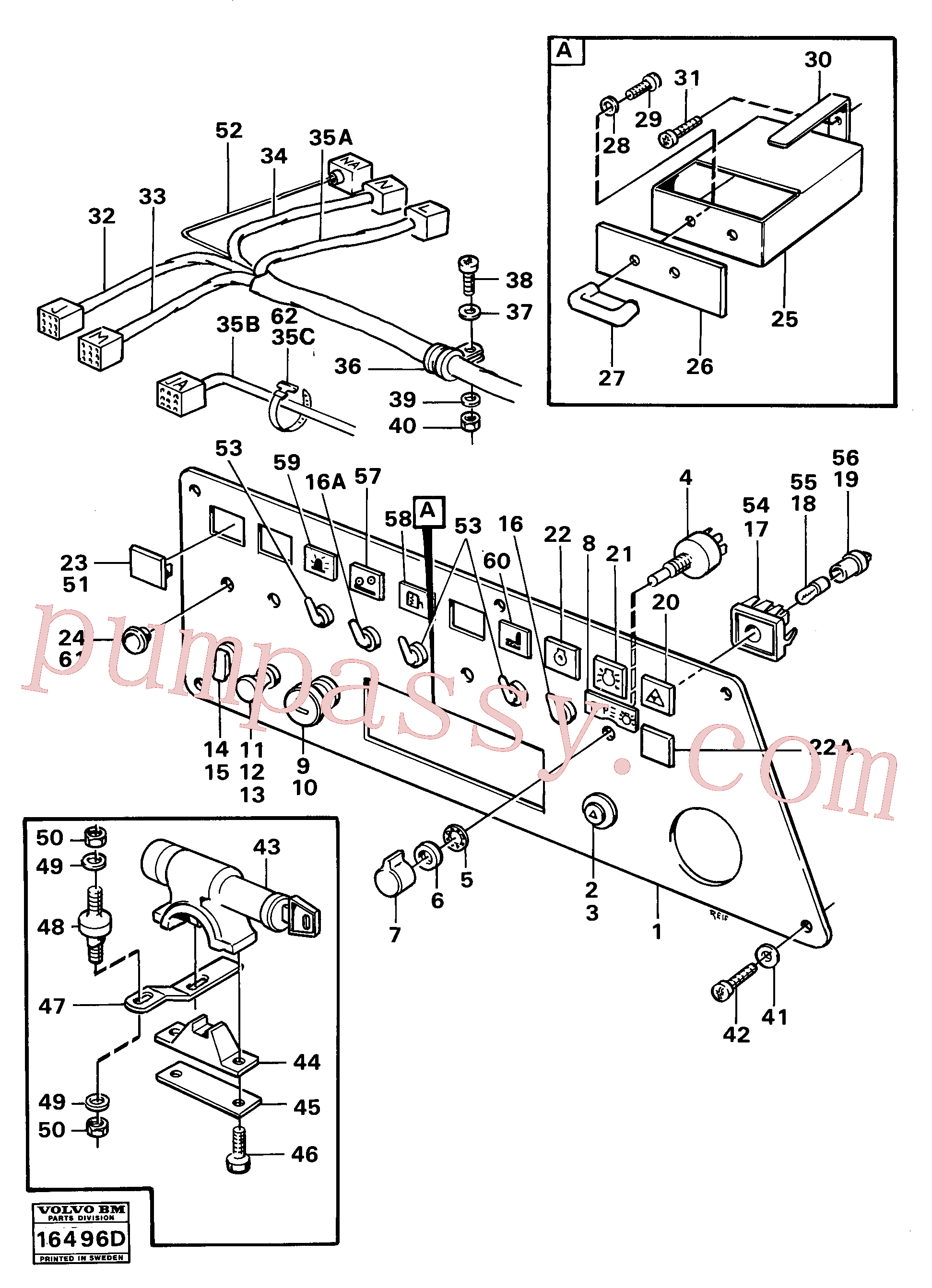 VOE14212237 for Volvo Instrumentpanel right(16496D assembly)