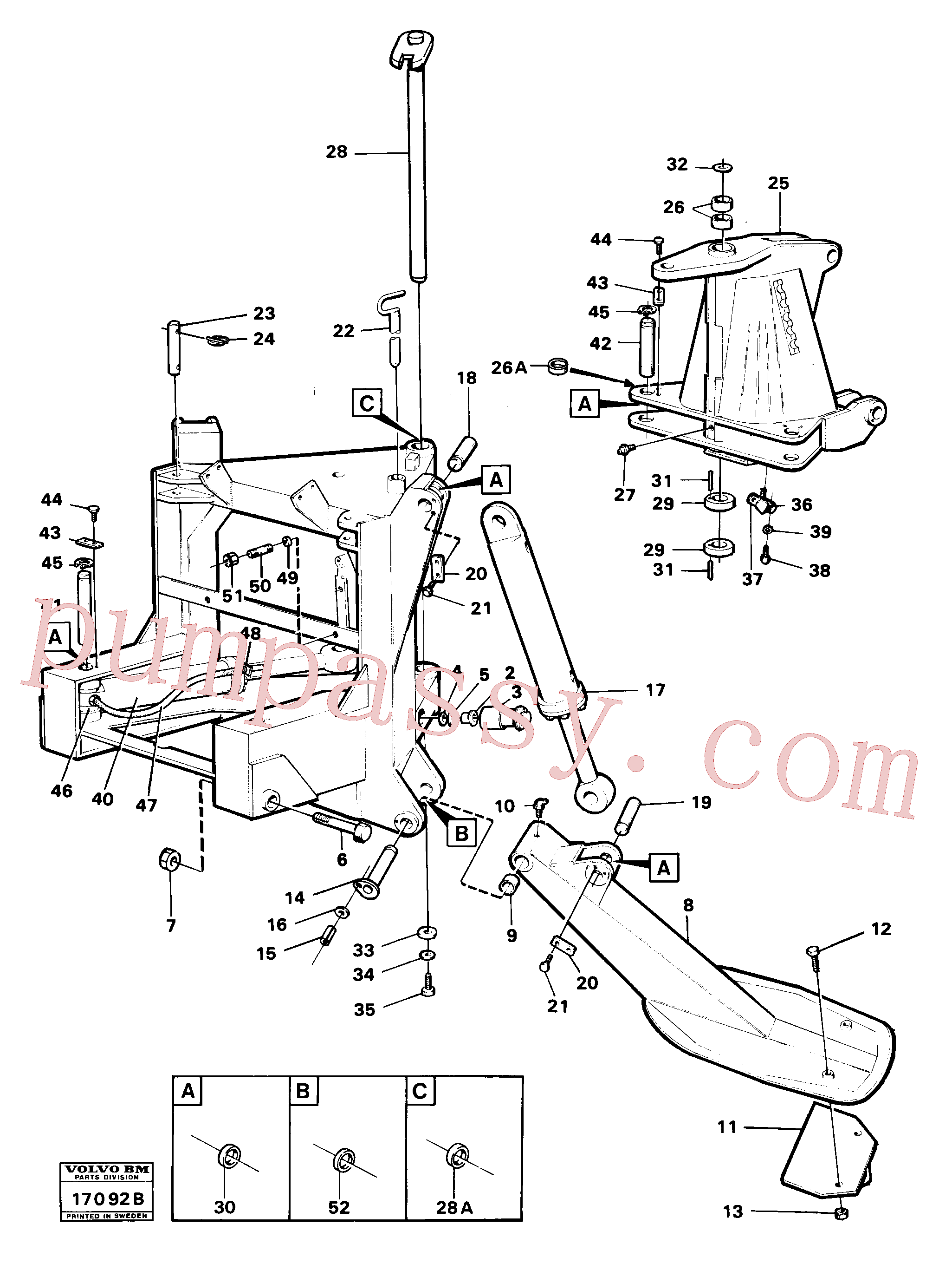 VOE14012983 for Volvo Stand, supporting legs and centre frame(17092B assembly)