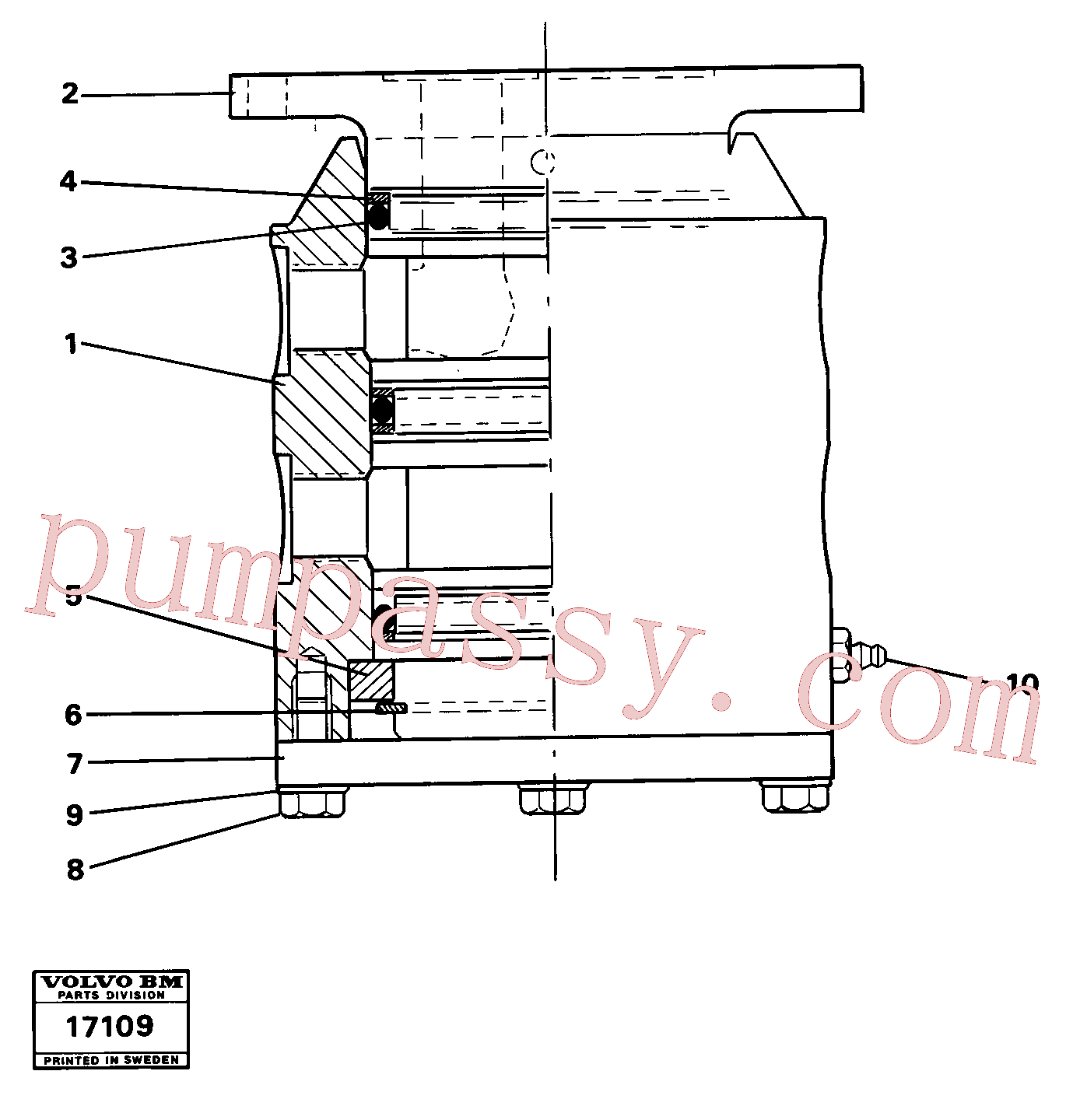 VOE914480 for Volvo Swivel(17109 assembly)