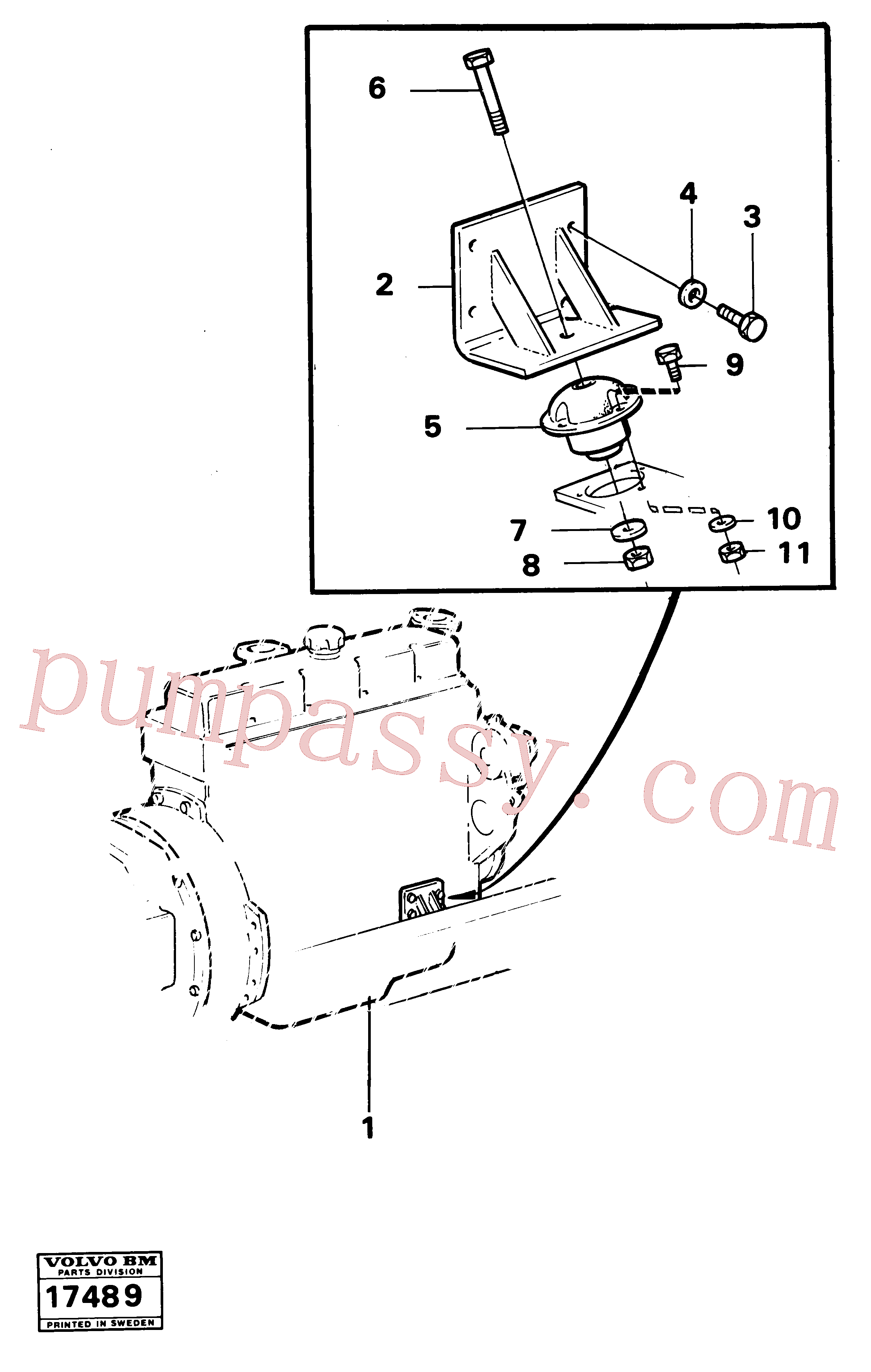 VOE955398 for Volvo Engine mounting(17489 assembly)