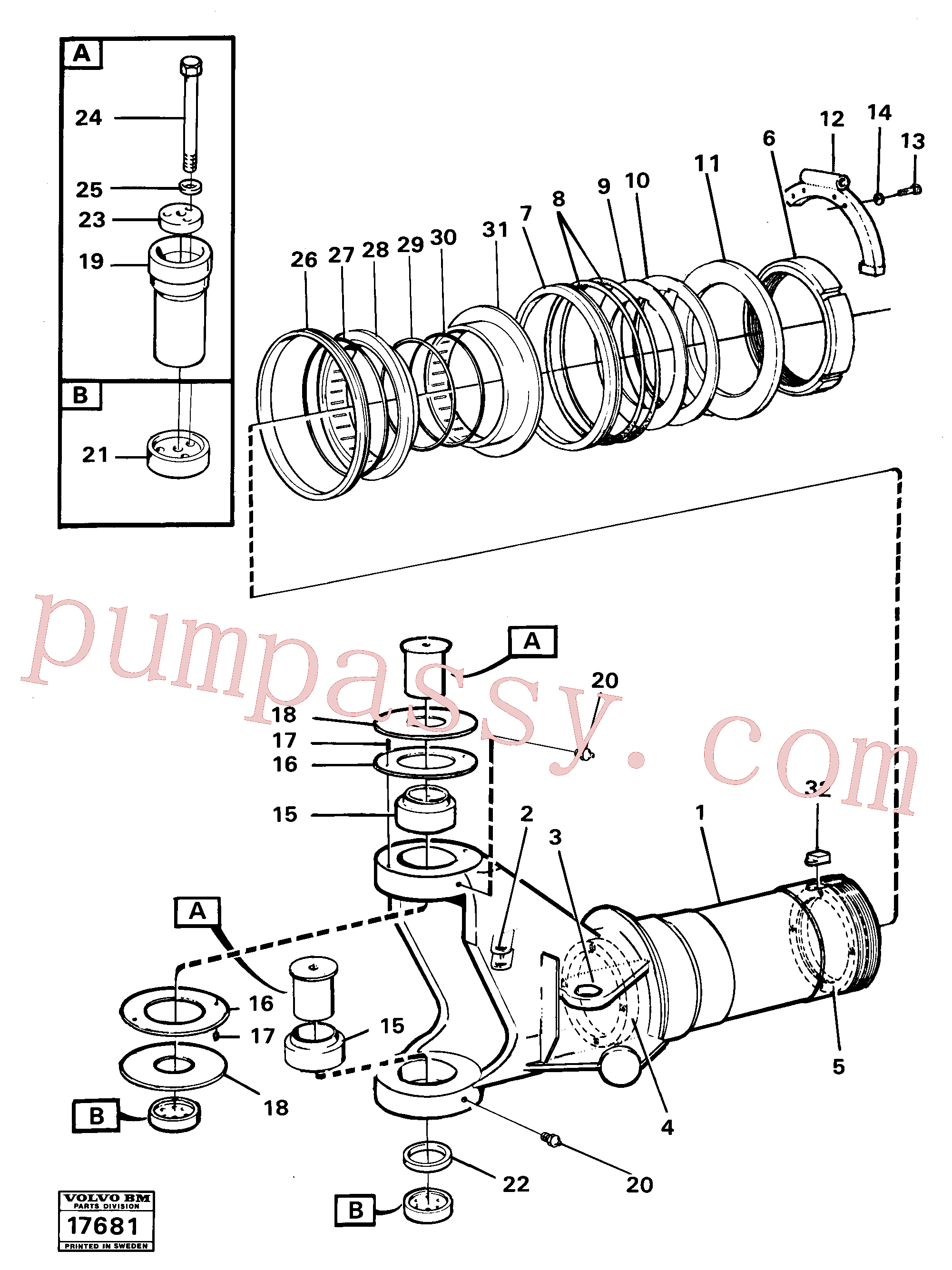 CH29A-02 for Volvo Hitch 6x6(17681 assembly)