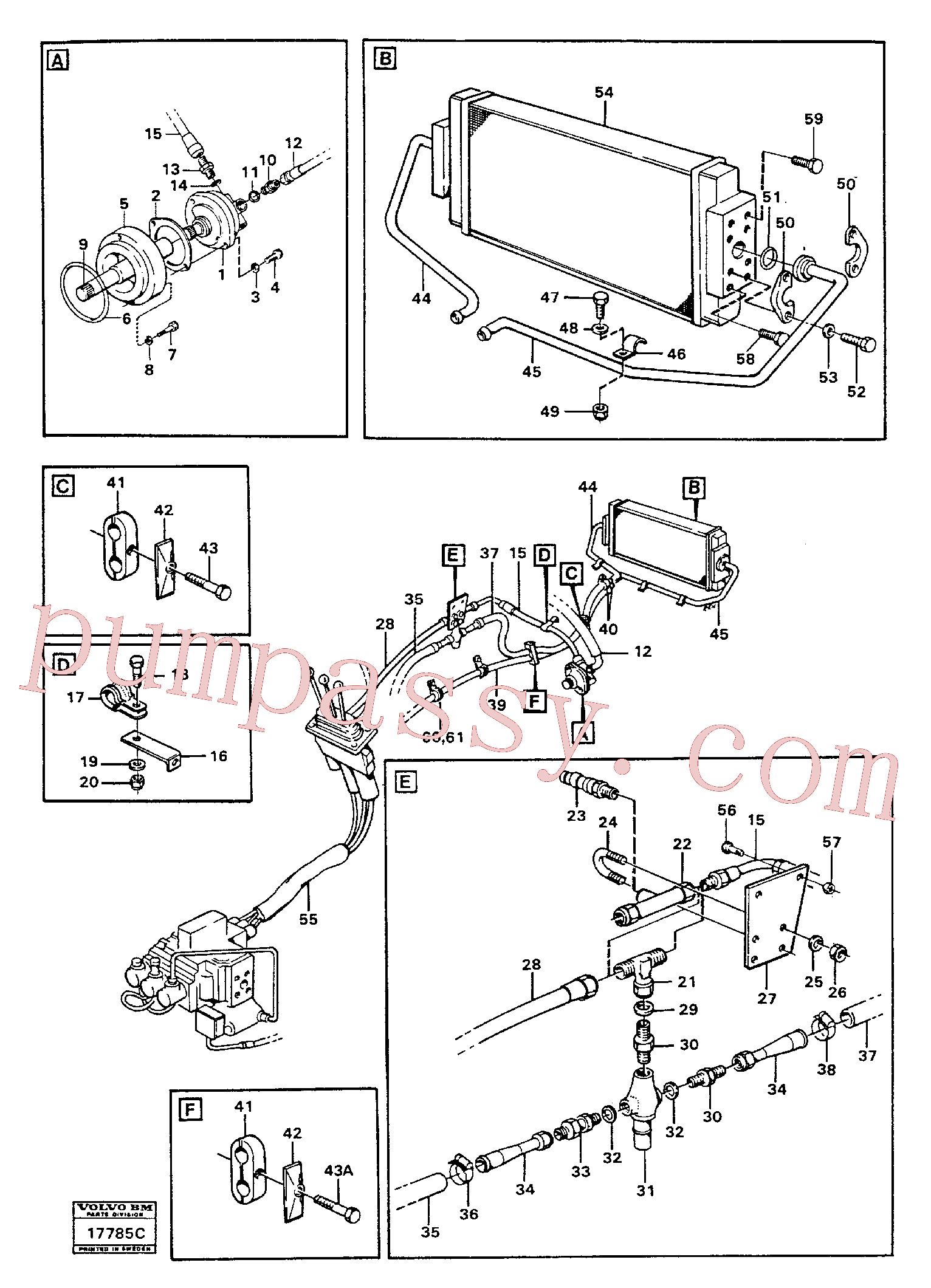 VOE192639 for Volvo Servo-system: feed lines.(17785C assembly)