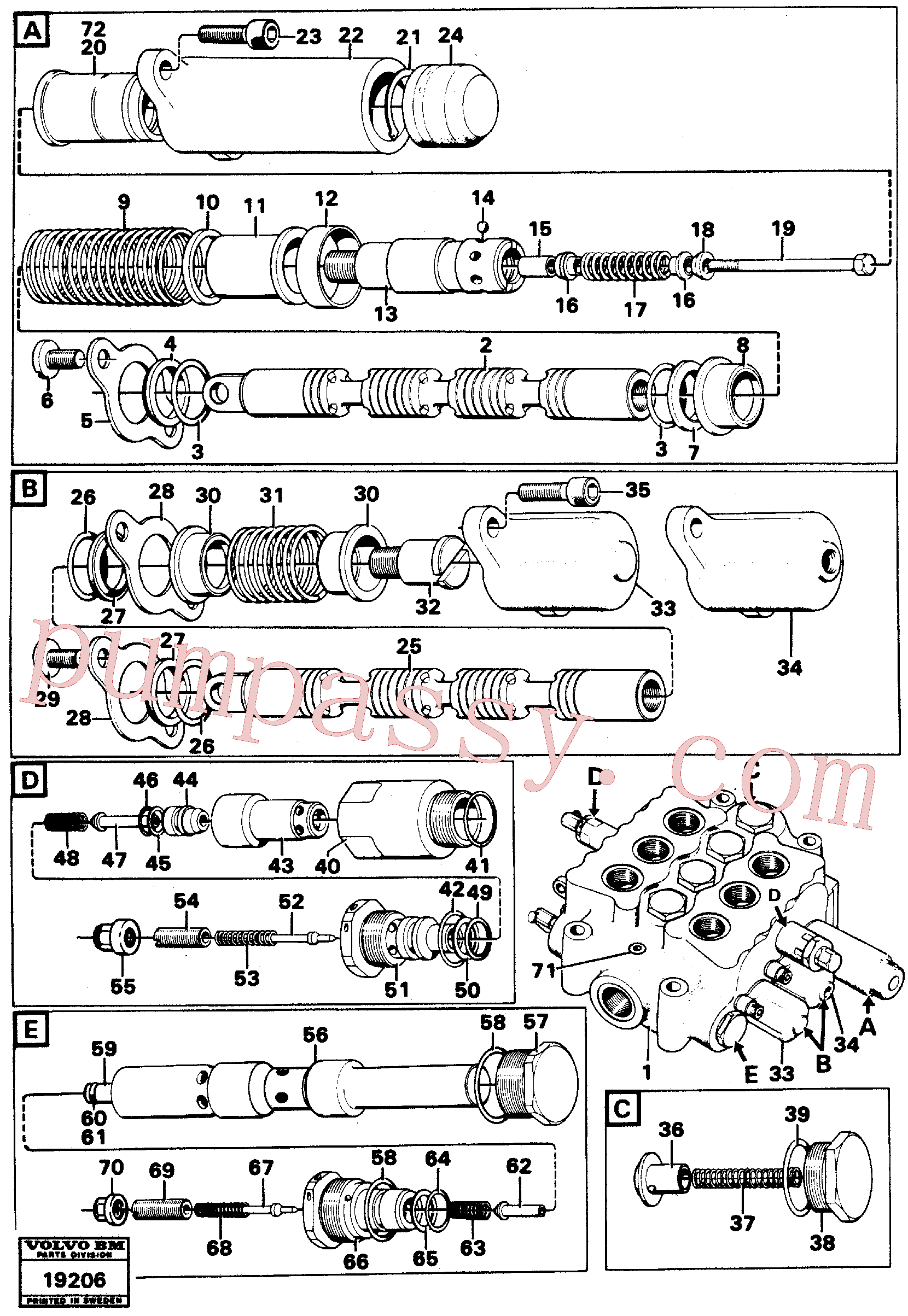 VOE956584 for Volvo Control valve(19206 assembly)