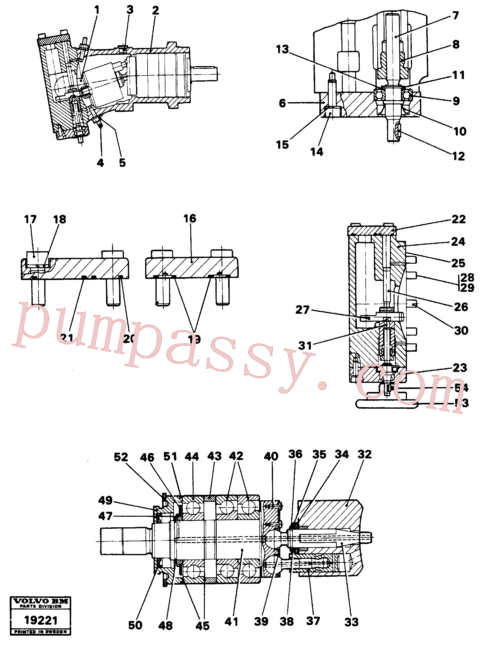 RM96711346 for Volvo Hydraulic pump(19221 assembly)