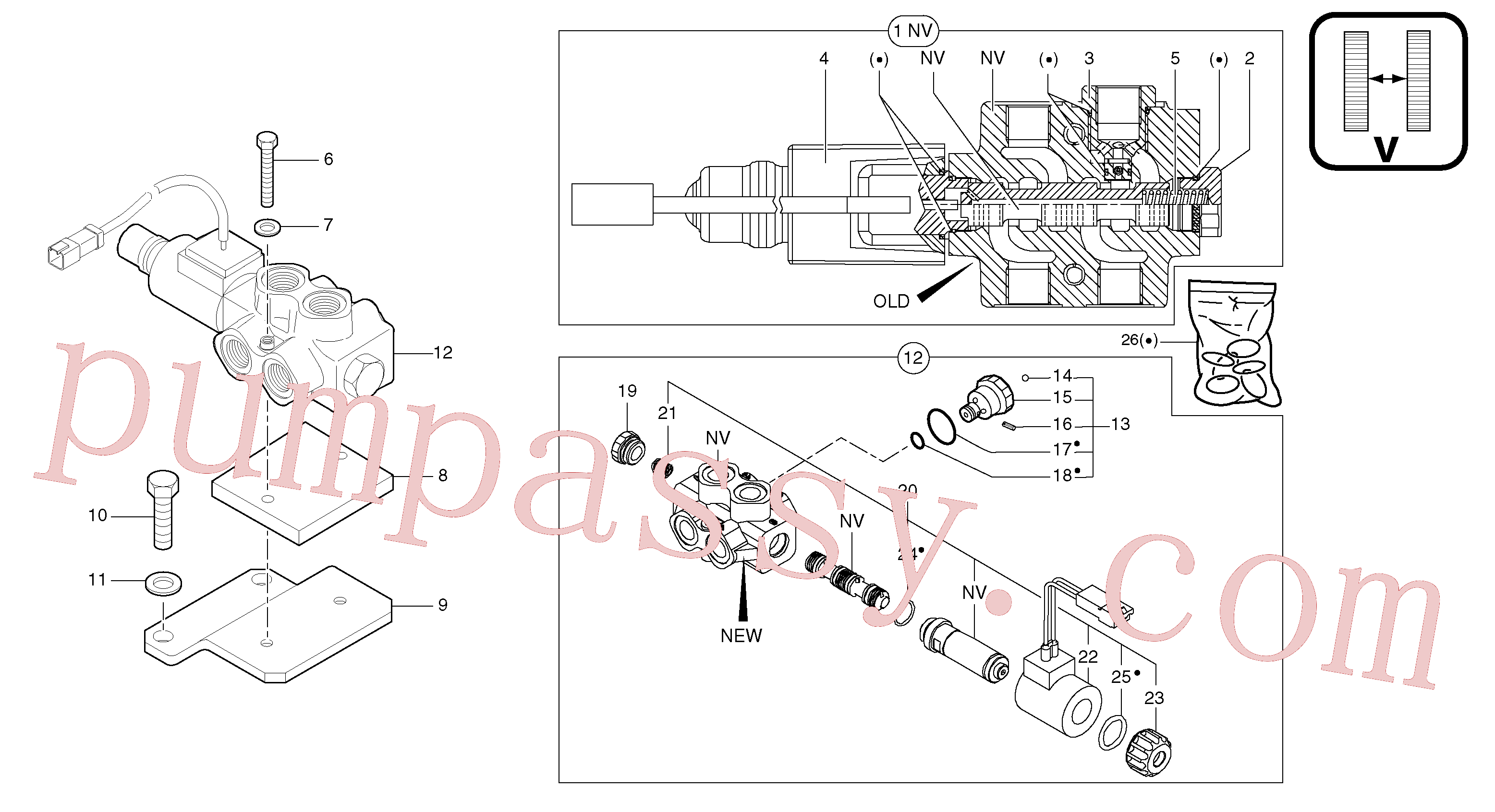 PJ7417882 for Volvo Selector / variable track(91216X2 assembly)