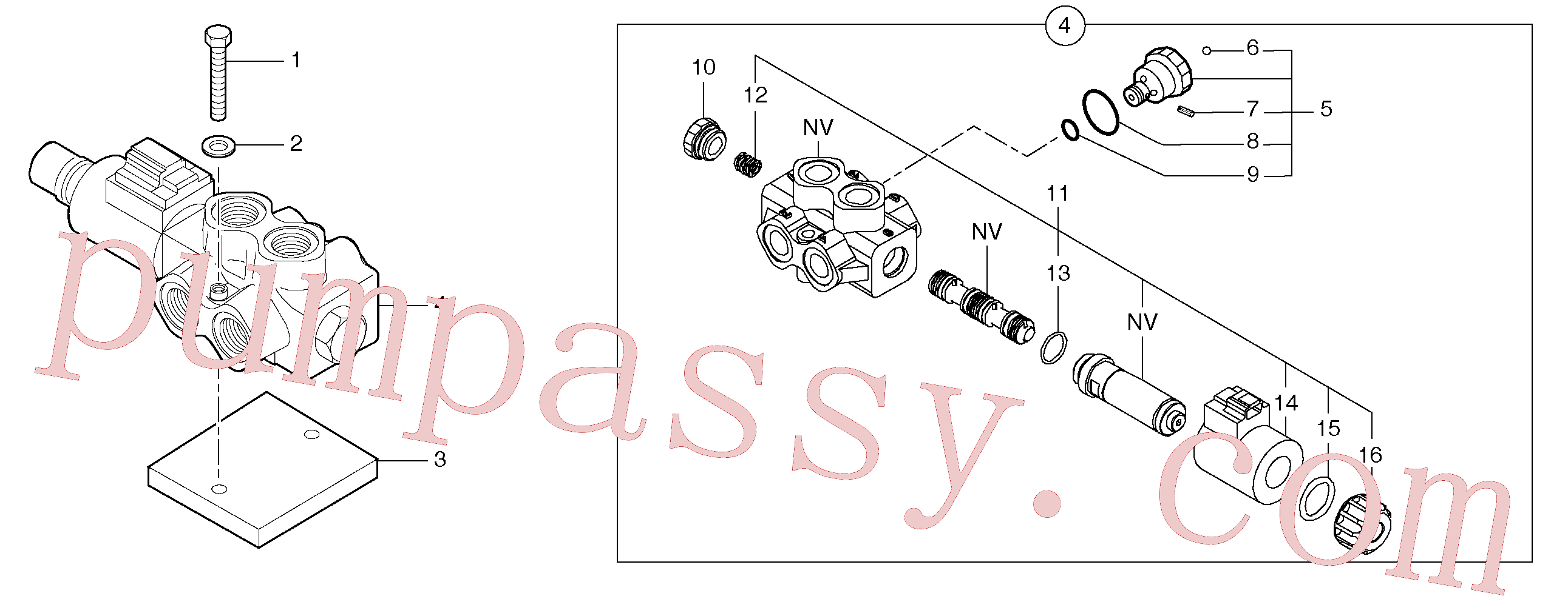 PJ7490282 for Volvo Slewing-offset selector switch(9124Z1 assembly)