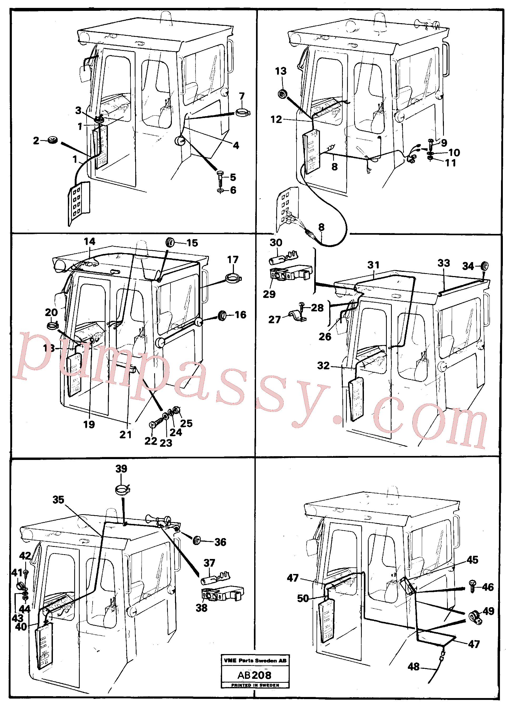 PJ4480006 for Volvo Electrical system, cab(AB208 assembly)