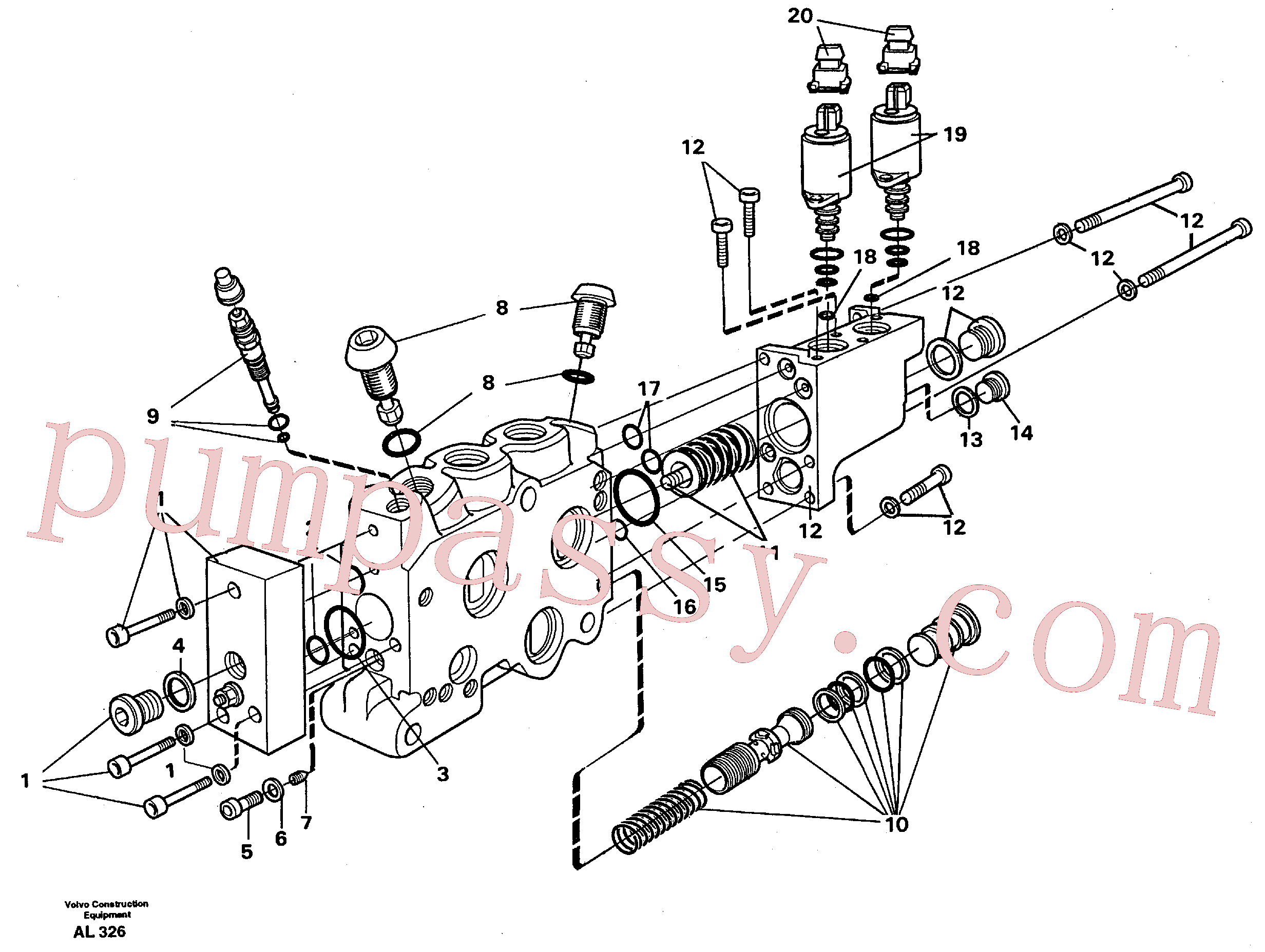VOE11701420 for Volvo Valve section(AL326 assembly)