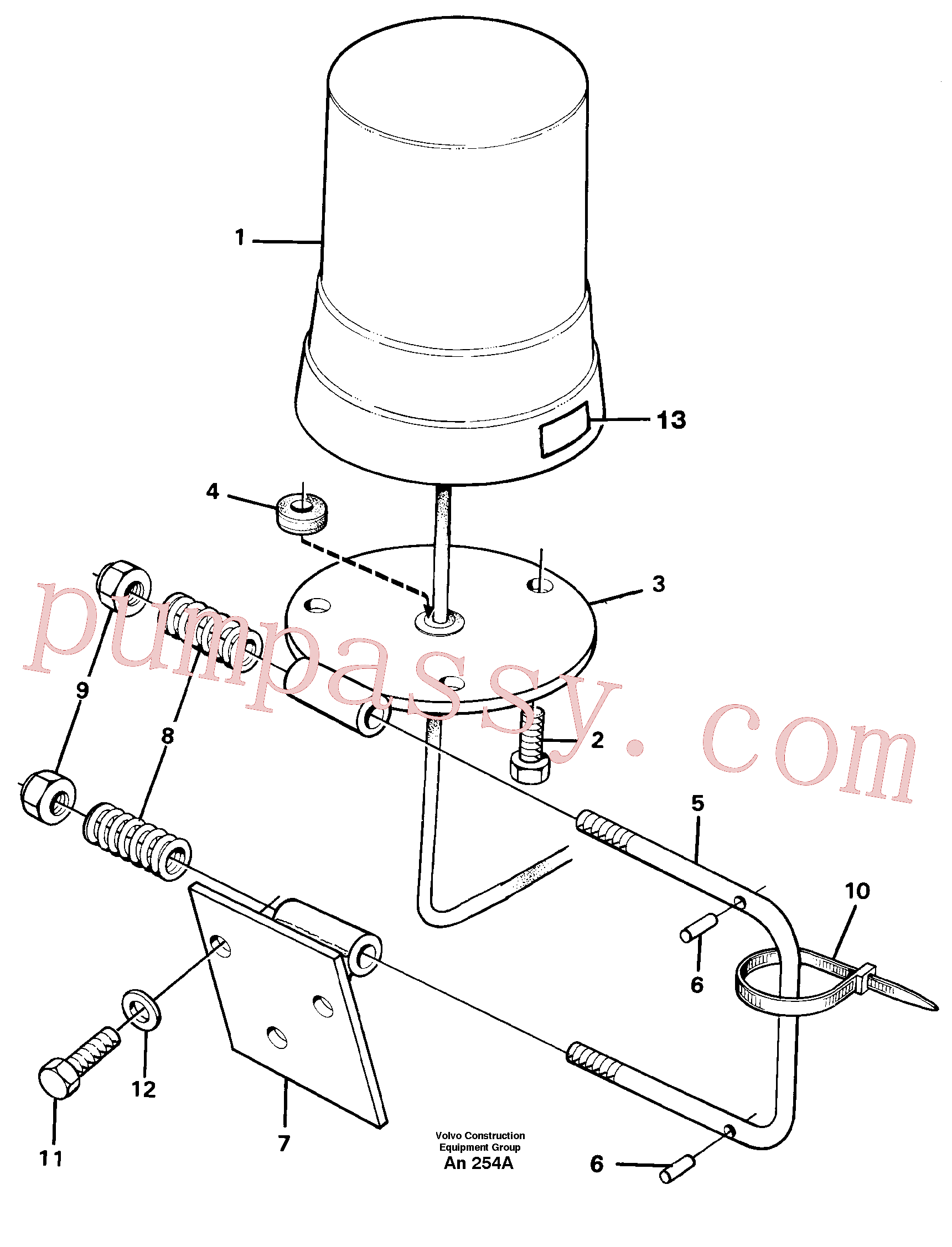 PJ4570069 for Volvo Rotating beacon(AN254A assembly)