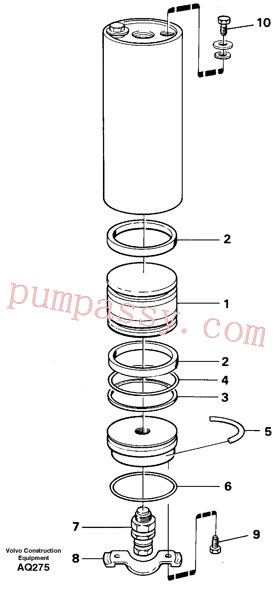 VOE11705459 for Volvo Accumulator(AQ275 assembly)