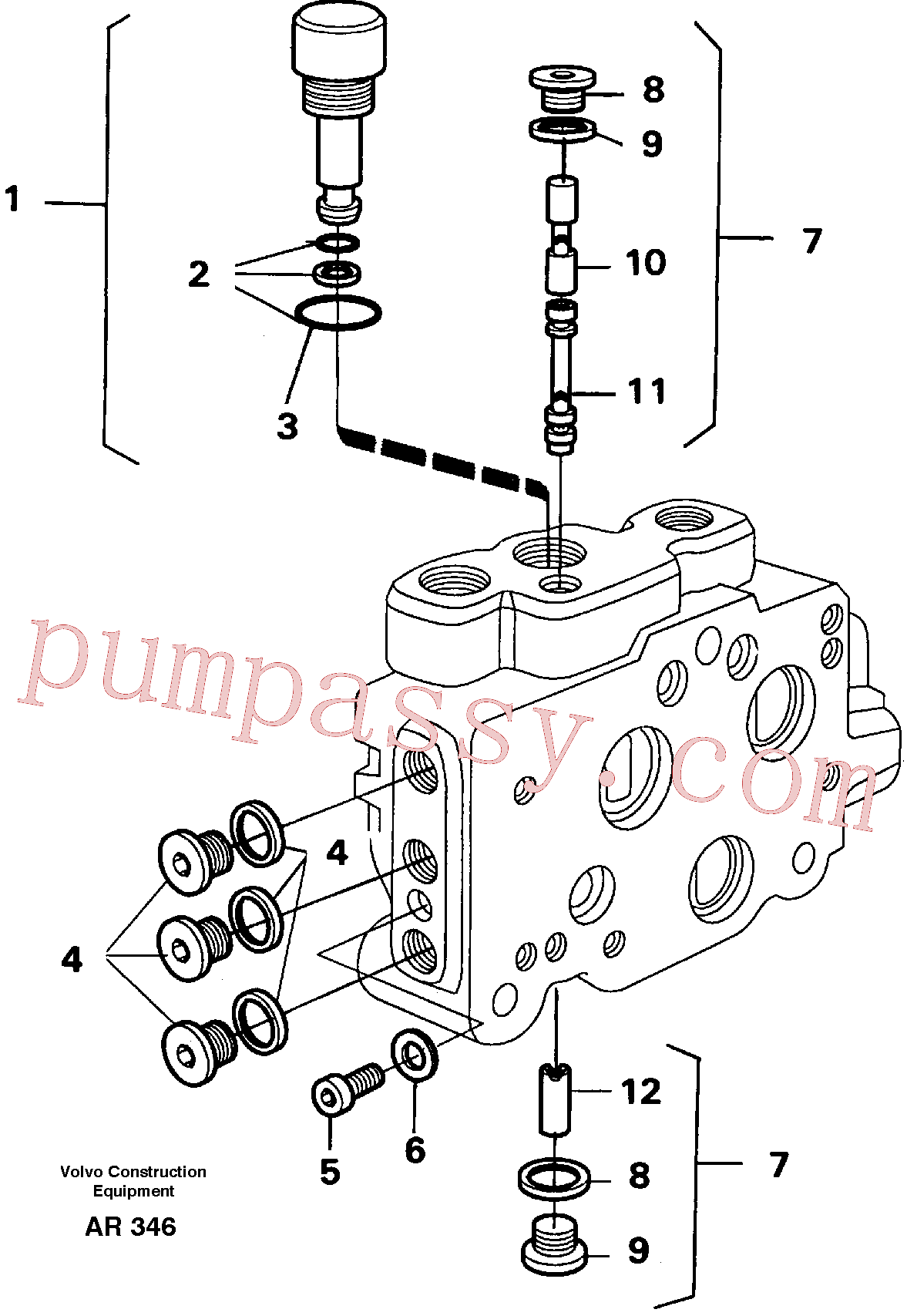 VOE11999447 for Volvo Valve section(AR346 assembly)