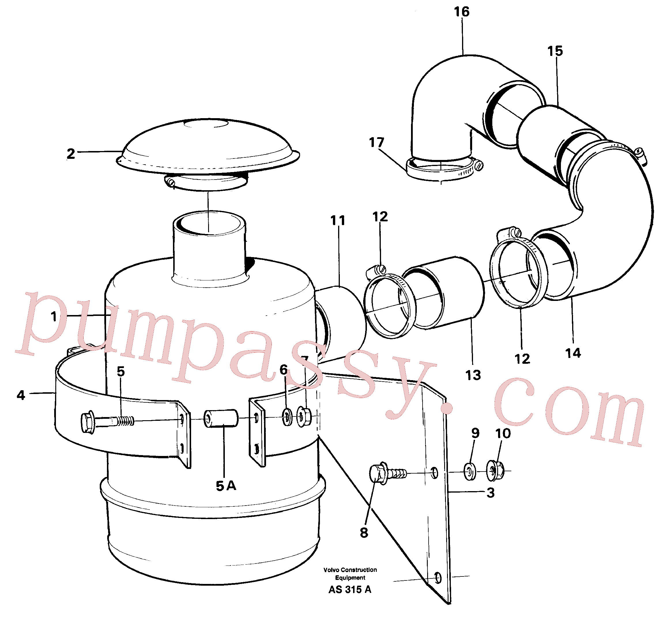 VOE13960143 for Volvo Oil bath filter(AS315A assembly)