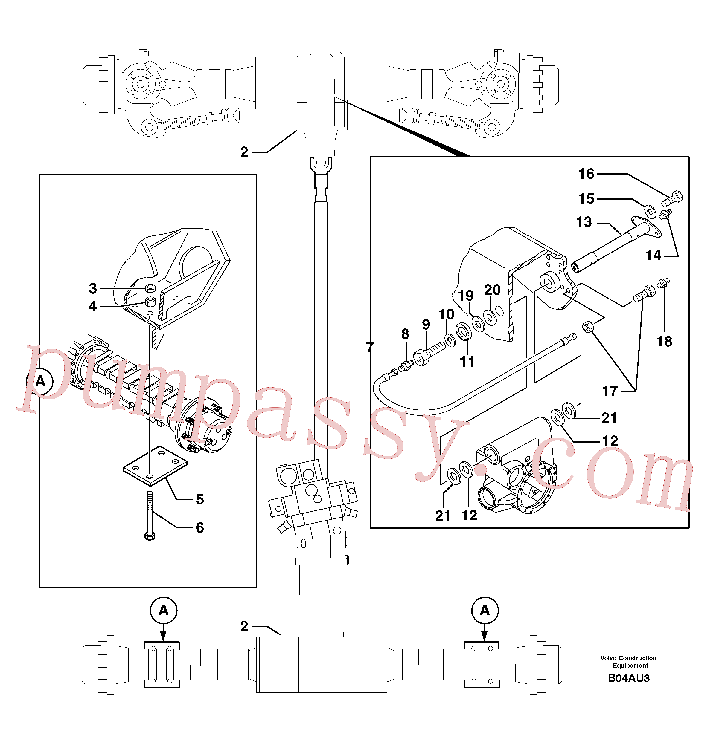 PJ5530103 for Volvo Axle cradles and mountings(B04AU3 assembly)