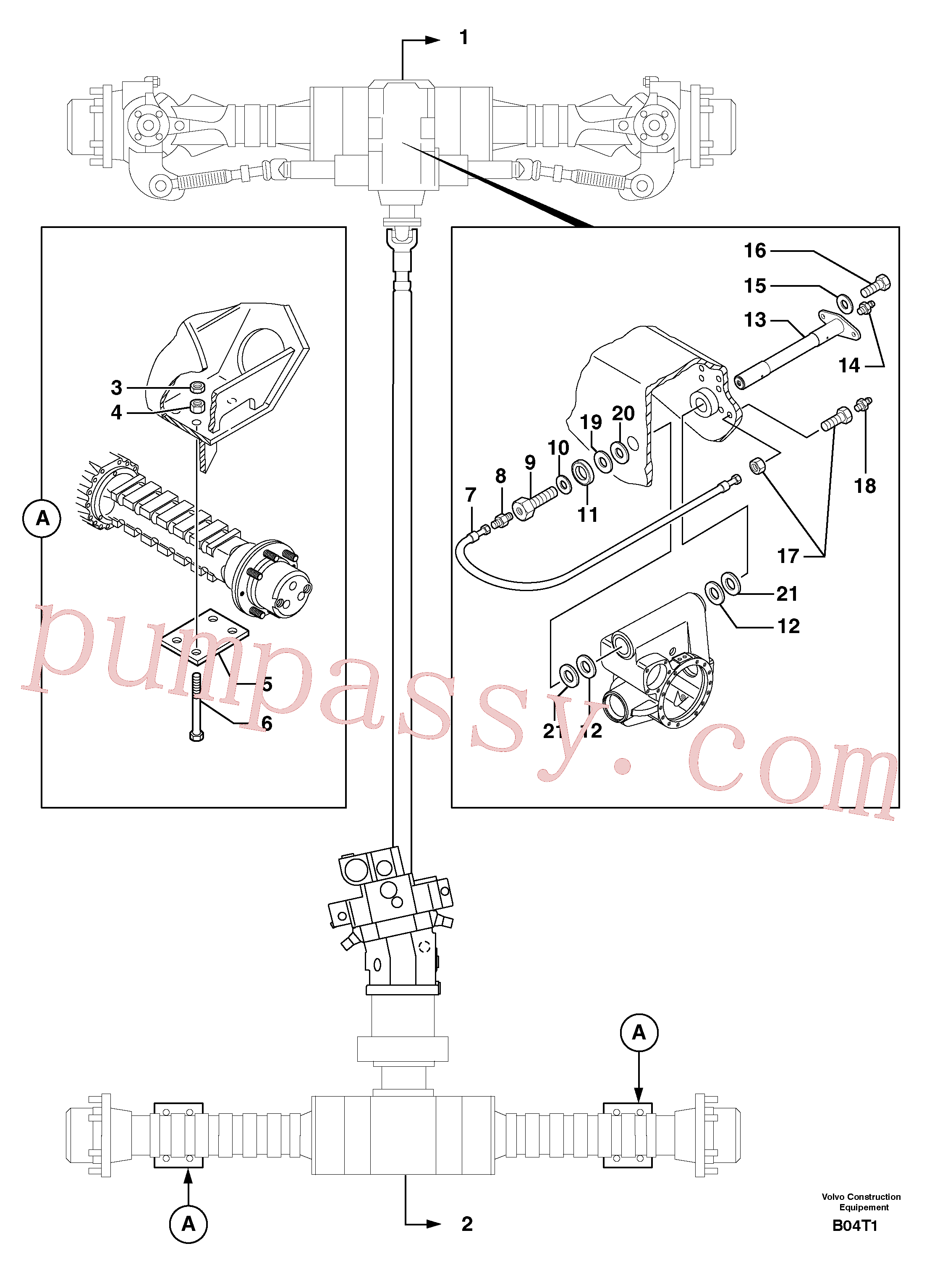 PJ5530103 for Volvo Axle cradles and mountings(B04T1 assembly)