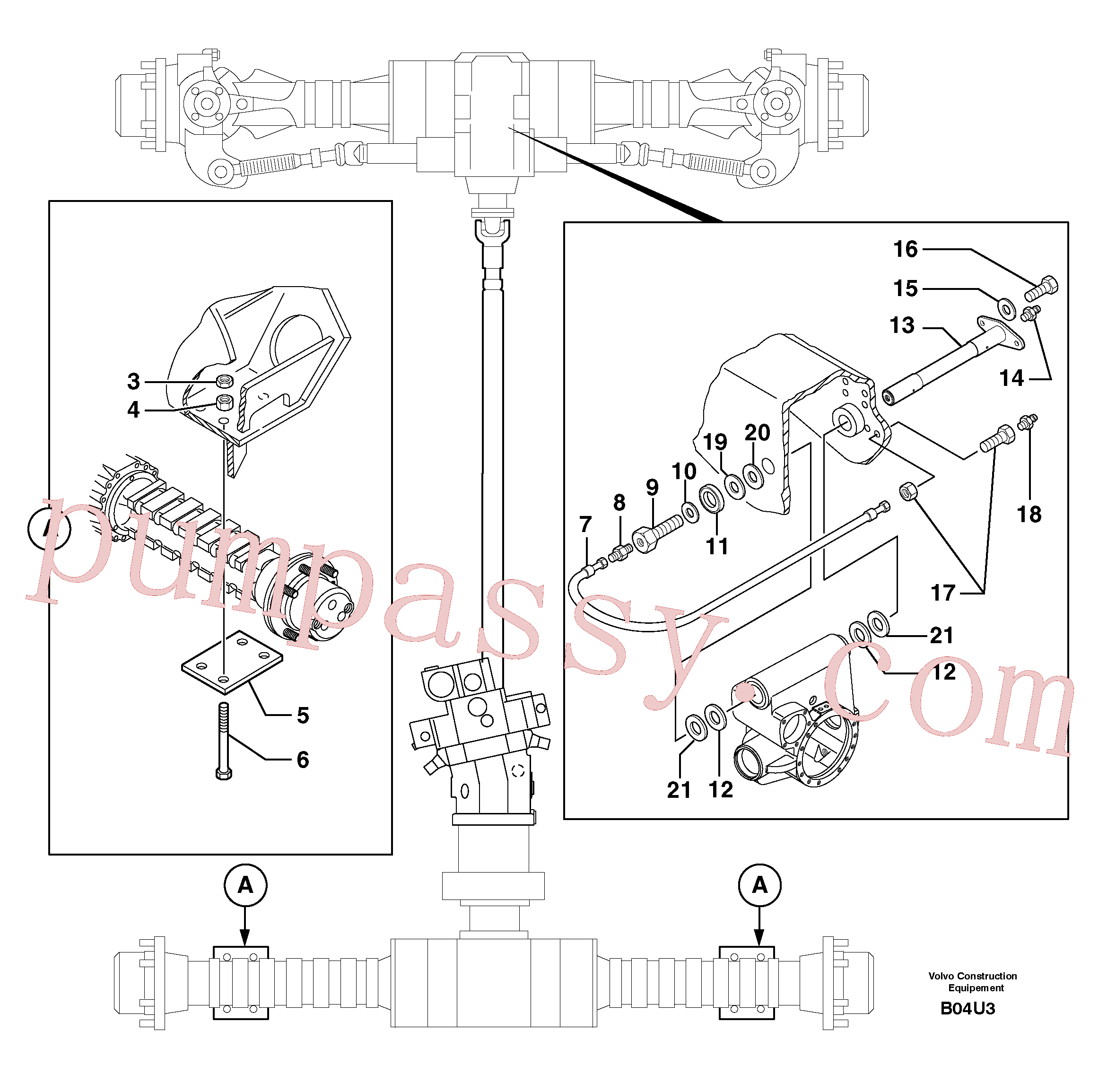 PJ5530103 for Volvo Axle cradles and mountings(B04U3 assembly)
