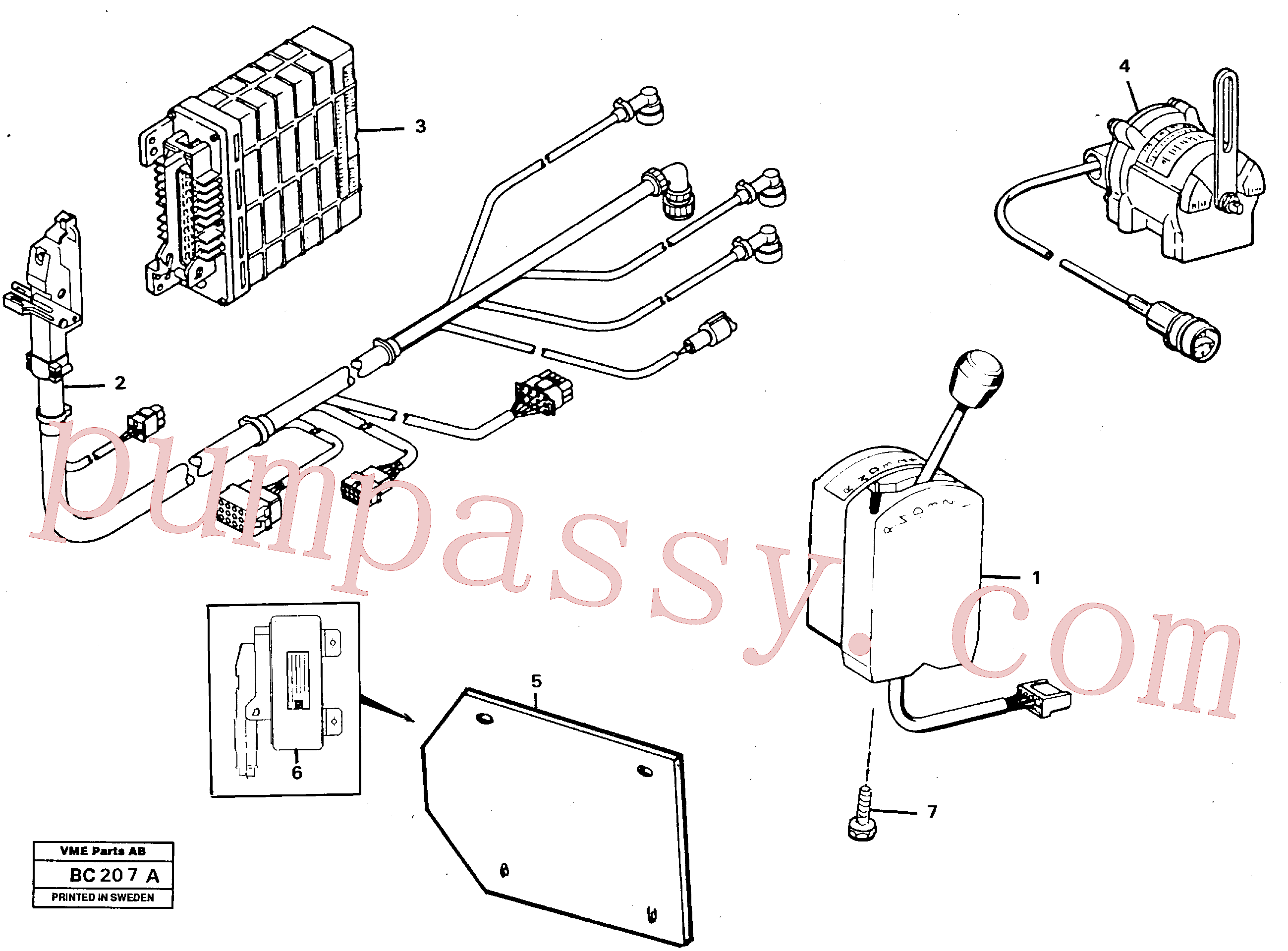 VOE947361 for Volvo Peripherie parts(BC207A assembly)