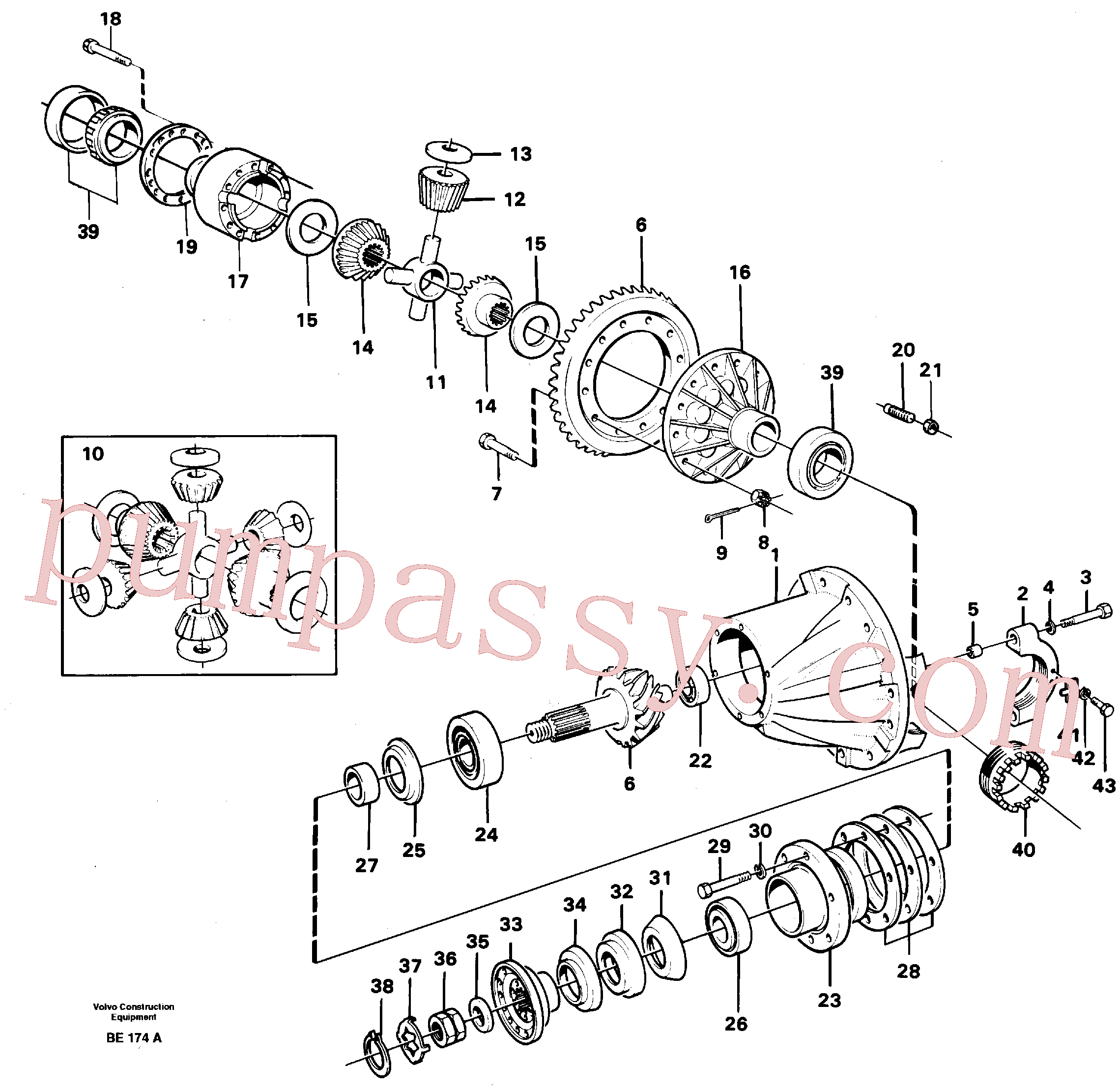 VOE4717627 for Volvo Final gear(BE174A assembly)