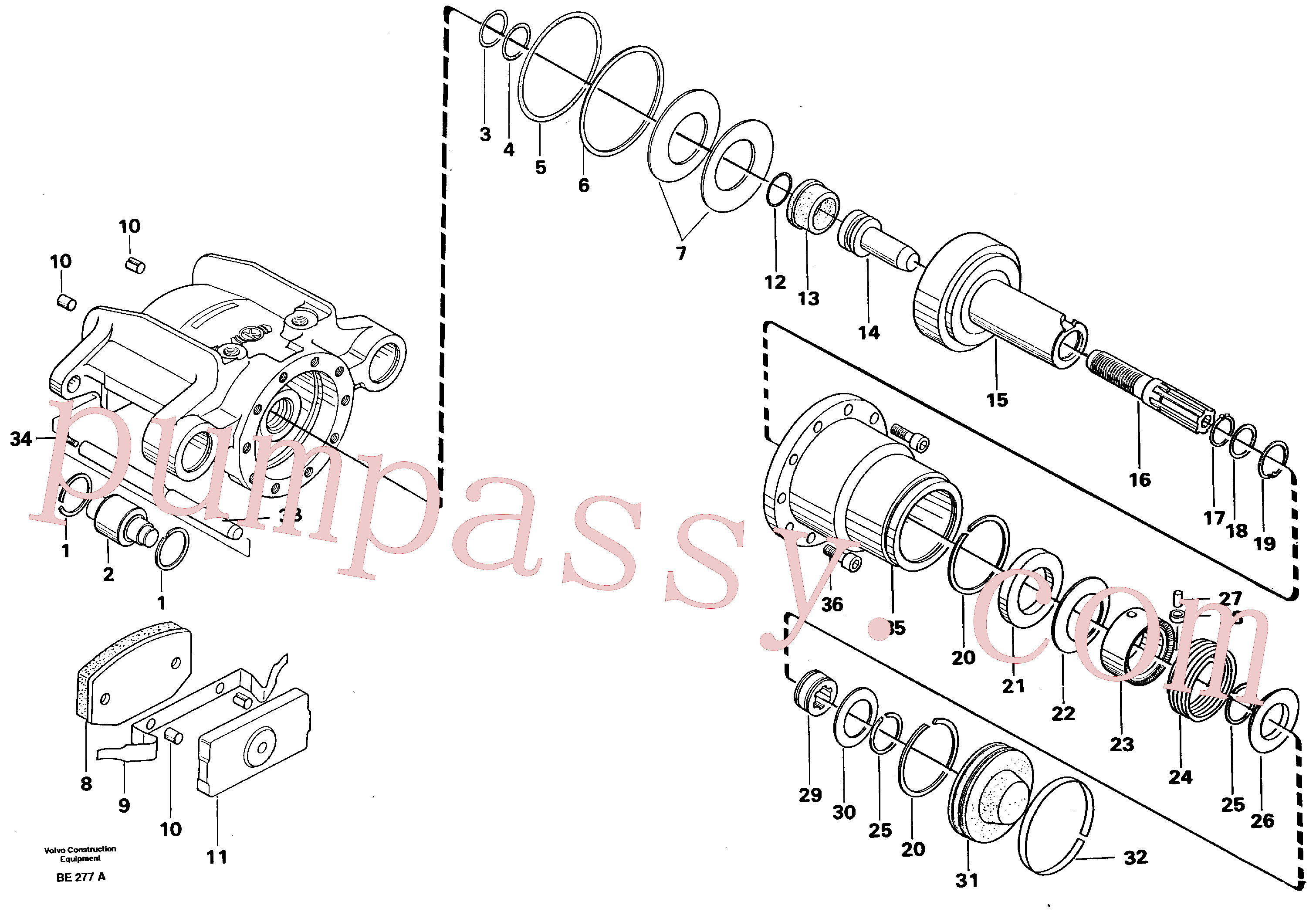 VOE14013960 for Volvo Universaljoint brake(BE277A assembly)