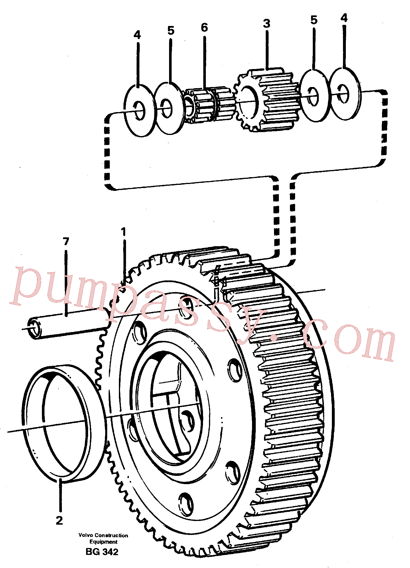 VOE11036945 for Volvo Planet kit, stage 5(BG342 assembly)