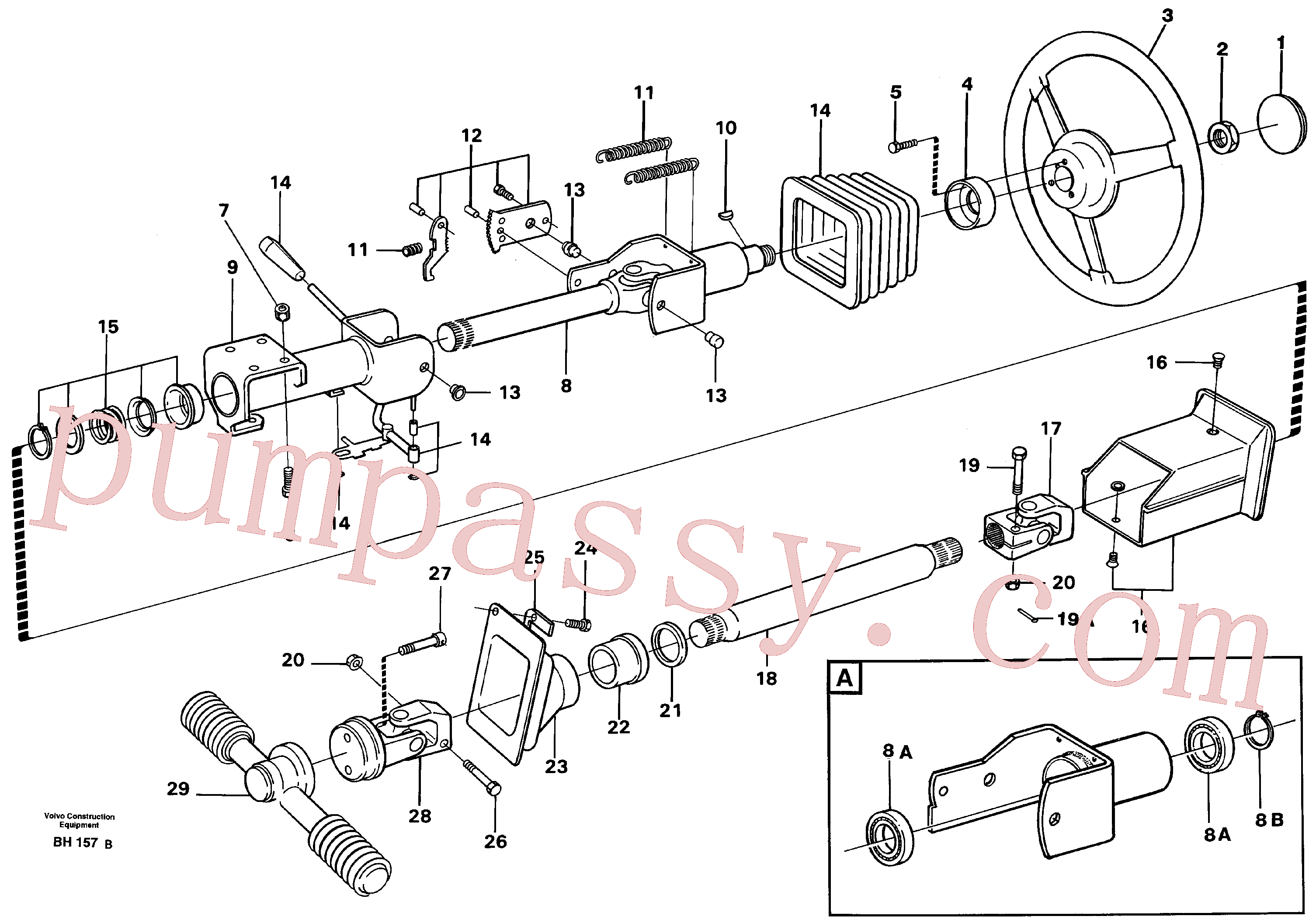 VOE13965220 for Volvo Steering gear(BH157B assembly)