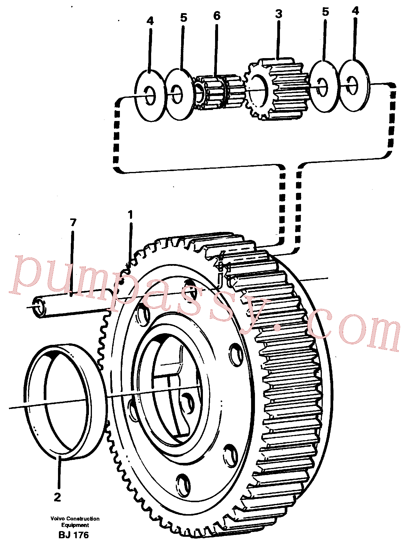 VOE11036945 for Volvo Planet kit, stage 5(BJ176 assembly)