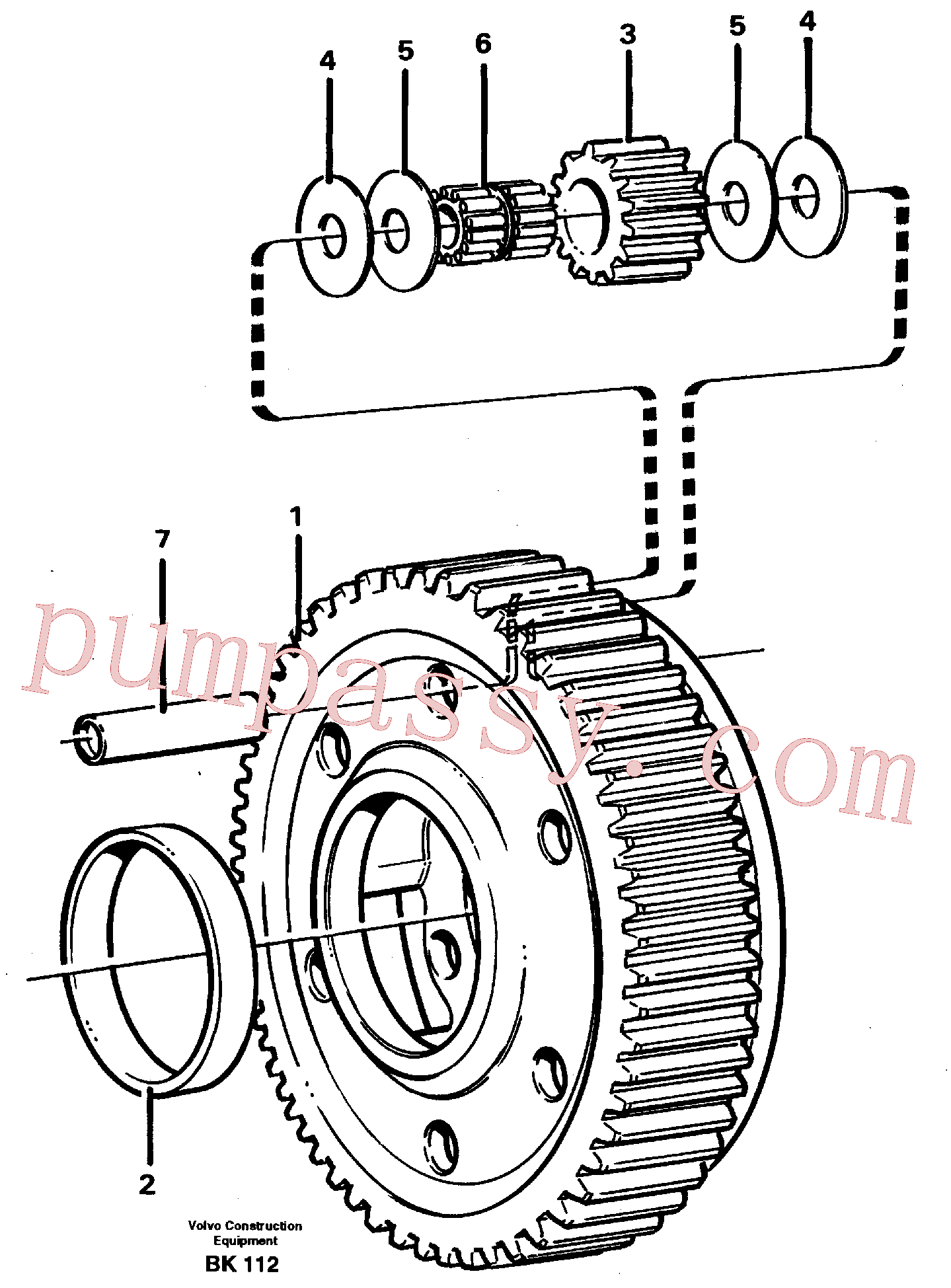 VOE11036945 for Volvo Planet kit, stage 5(BK112 assembly)