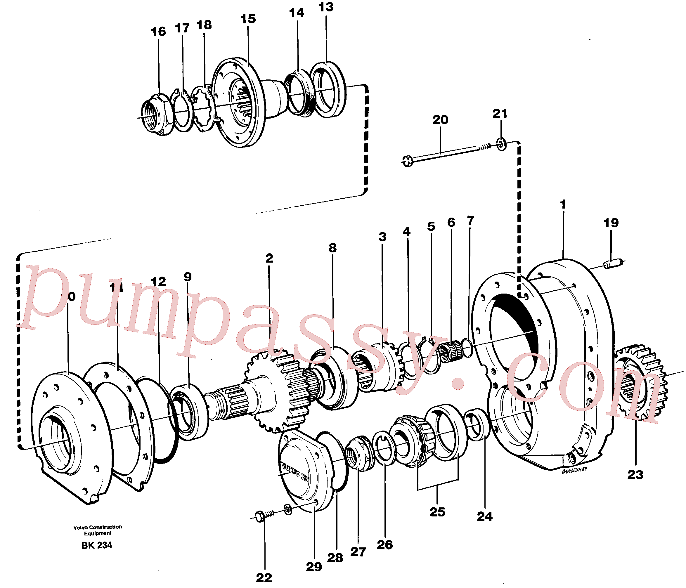 VOE914480 for Volvo Final drive(BK234 assembly)