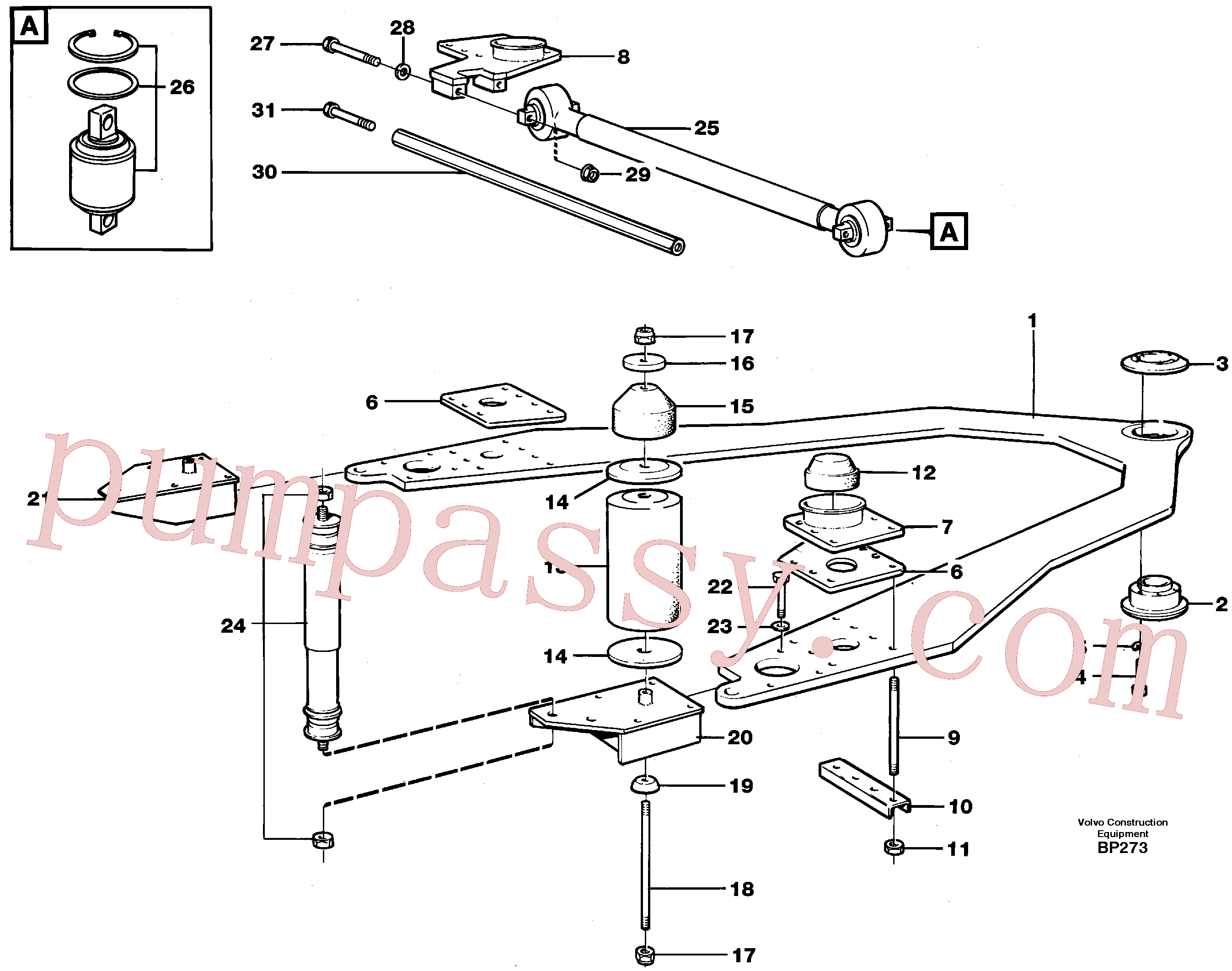 VOE955398 for Volvo Front axle suspension(BP273 assembly)
