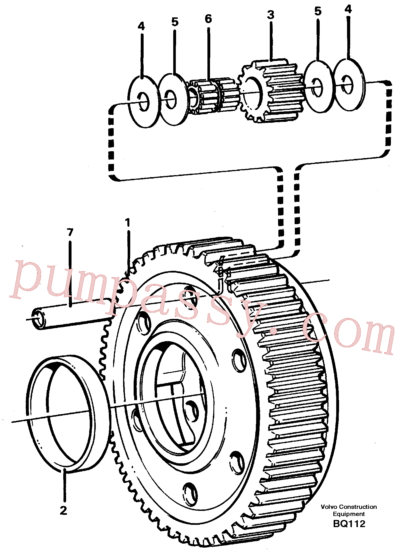 VOE11036945 for Volvo Planet kit, stage 5(BQ112 assembly)