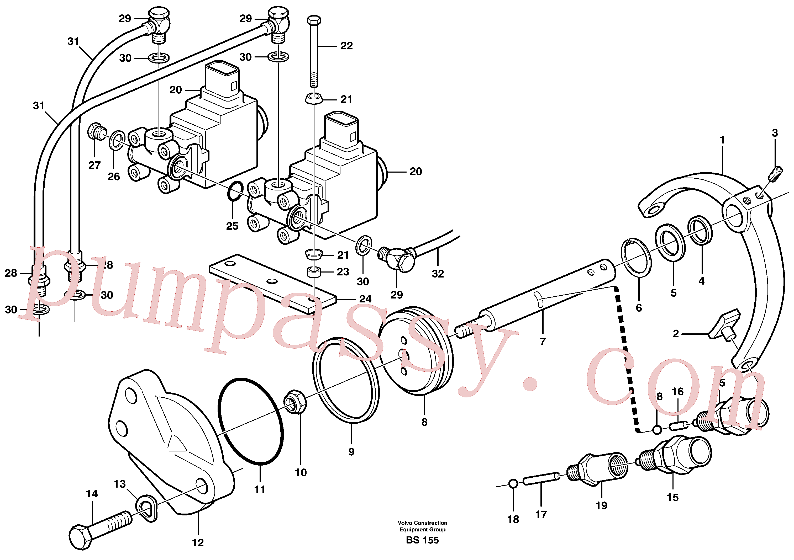 RM96701800 for Volvo Control for high and low gear(BS155 assembly)