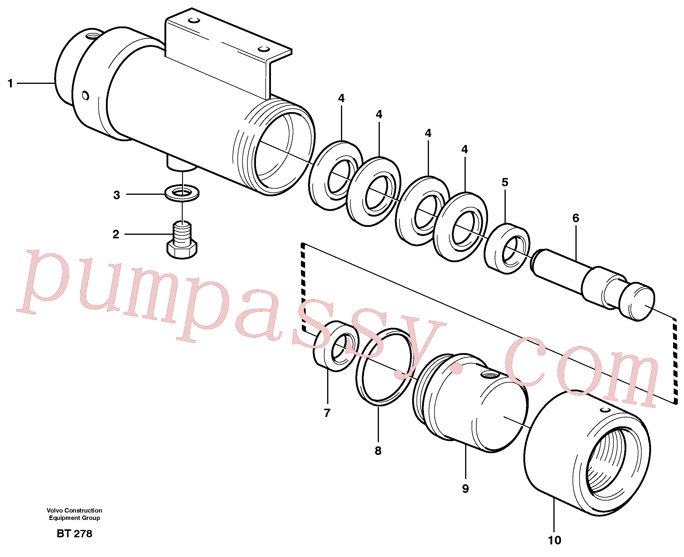 VOE4737485 for Volvo Damping cylinder(BT278 assembly)