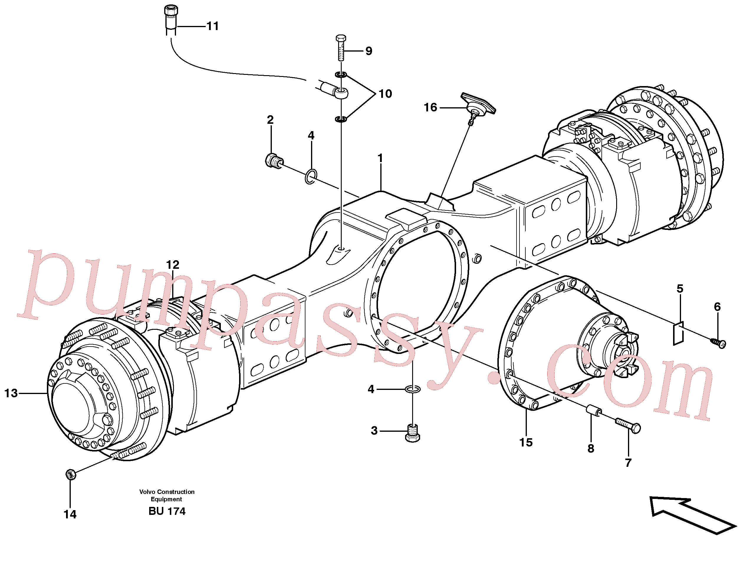 VOE11102959 for Volvo Planetary axle, motor unit(BU174 assembly)