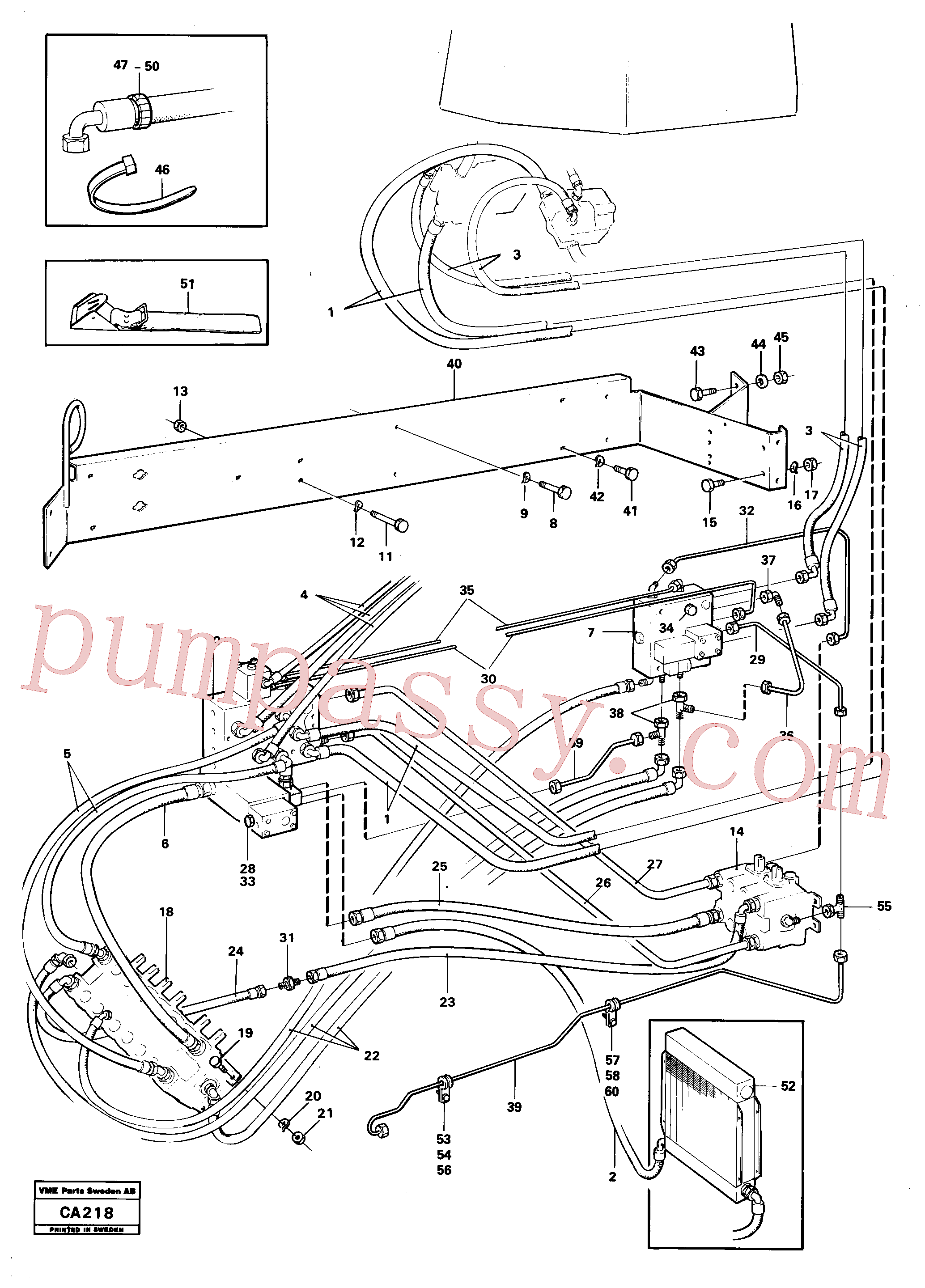VOE4953392 for Volvo Hydraulic and servo system. Feed system(CA218 assembly)