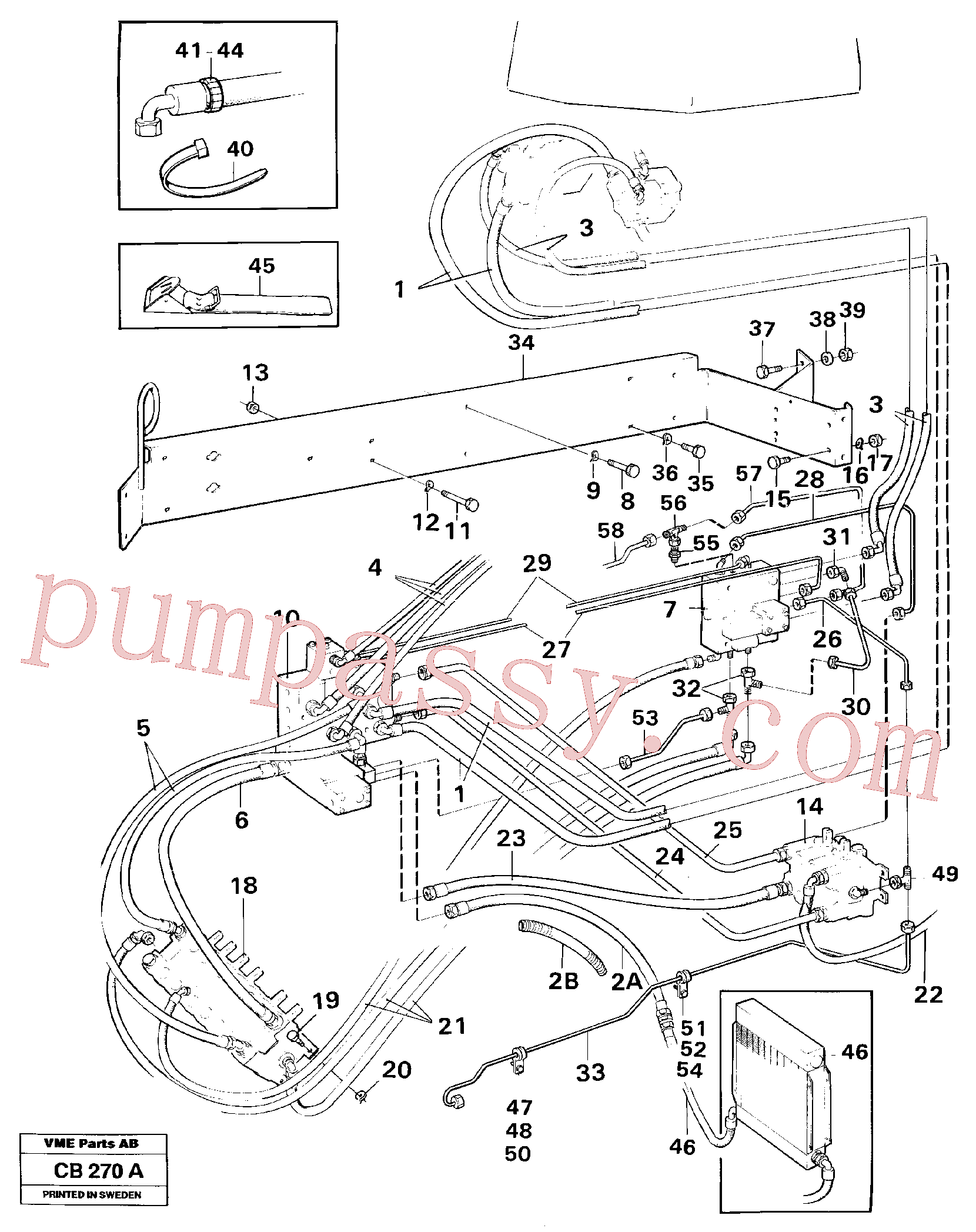 VOE4953392 for Volvo Hydraulic and servo system. Feed system(CB270A assembly)