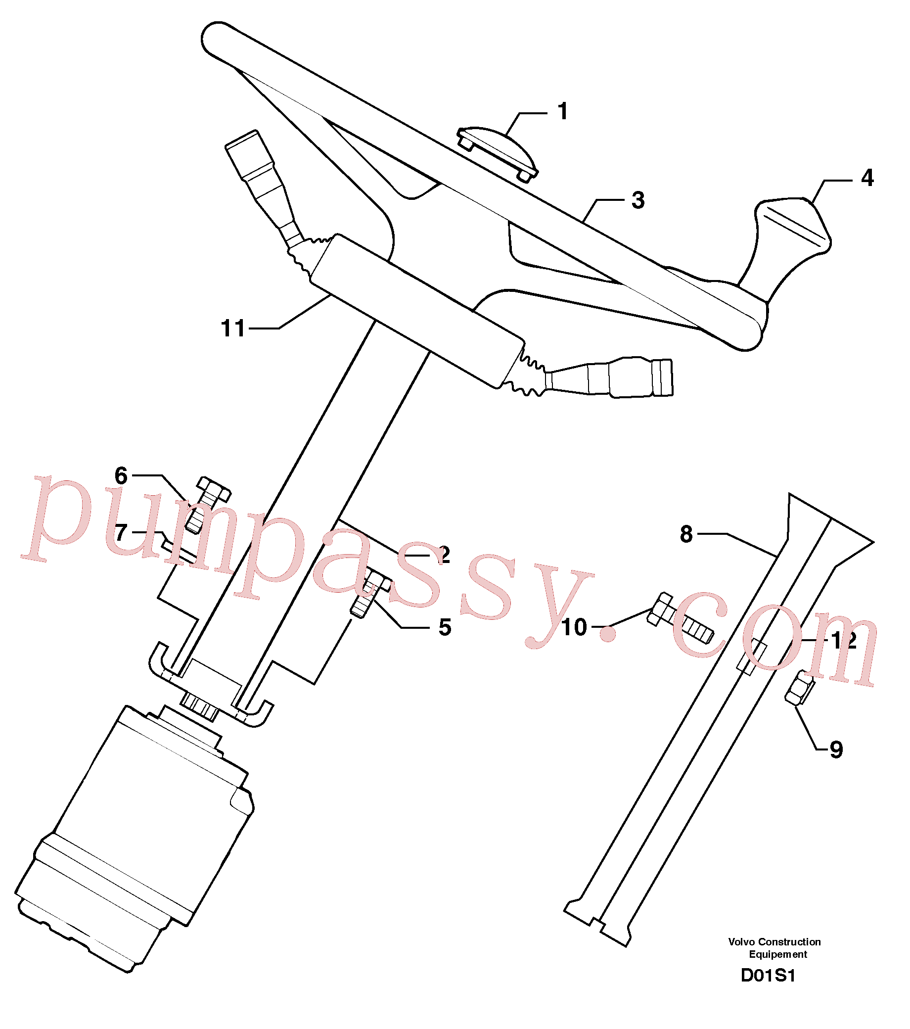 PJ4380055 for Volvo Steering(D01S1 assembly)