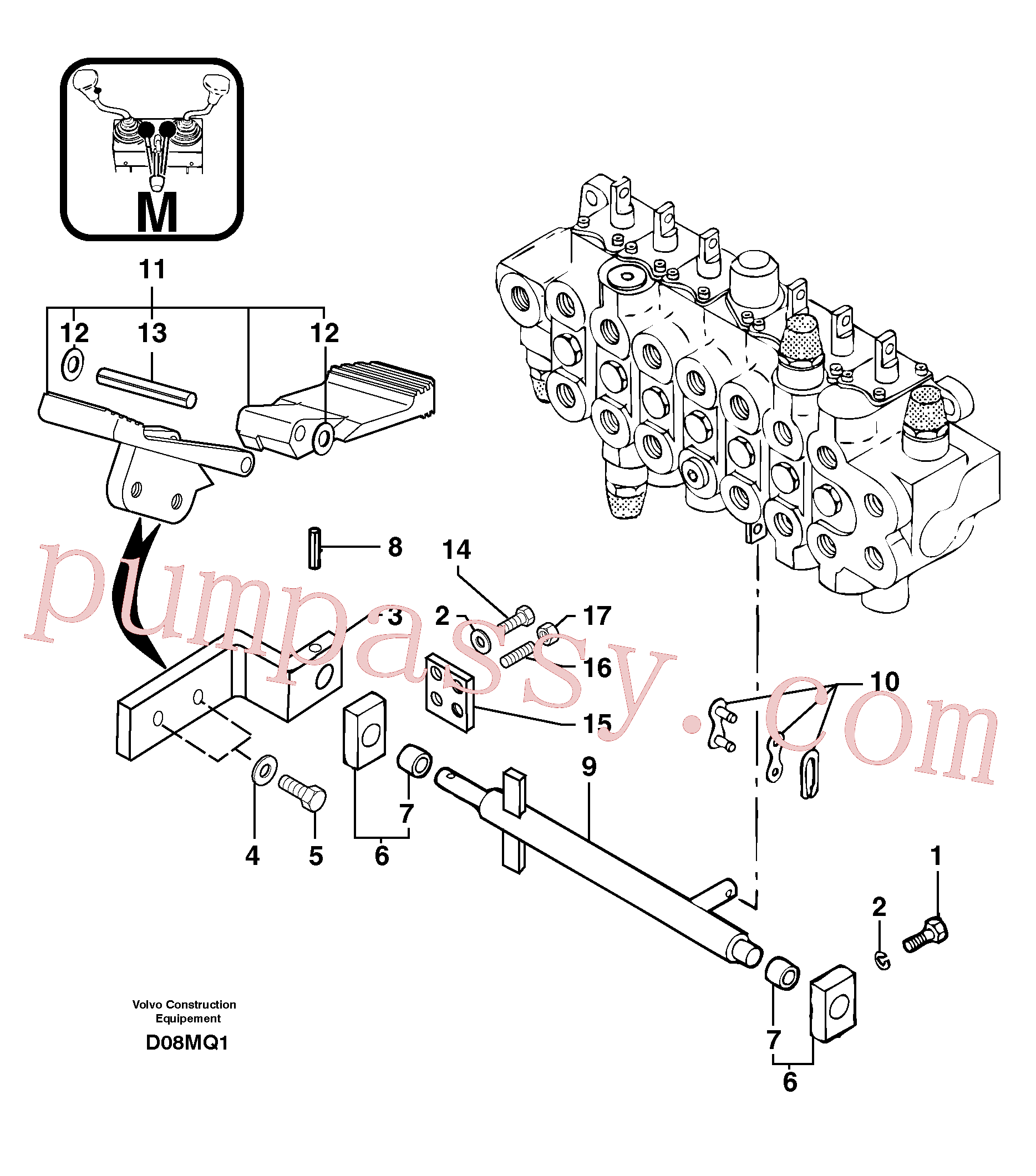 PJ4490021 for Volvo Control pedal : accessories(D08MQ1 assembly)