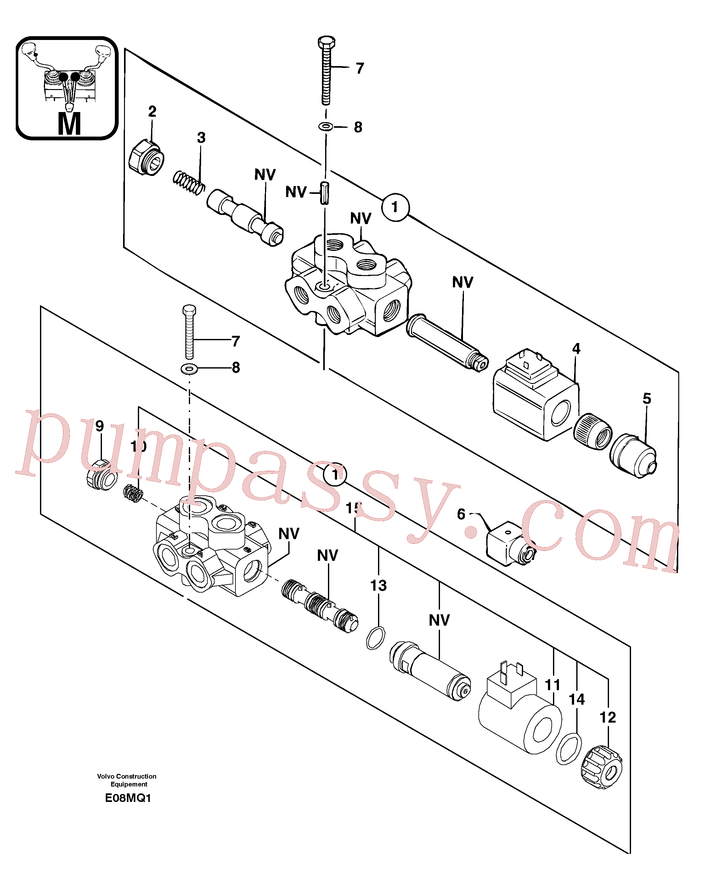 PJ4380026 for Volvo Slewing-offset selector switch(E08MQ1 assembly)