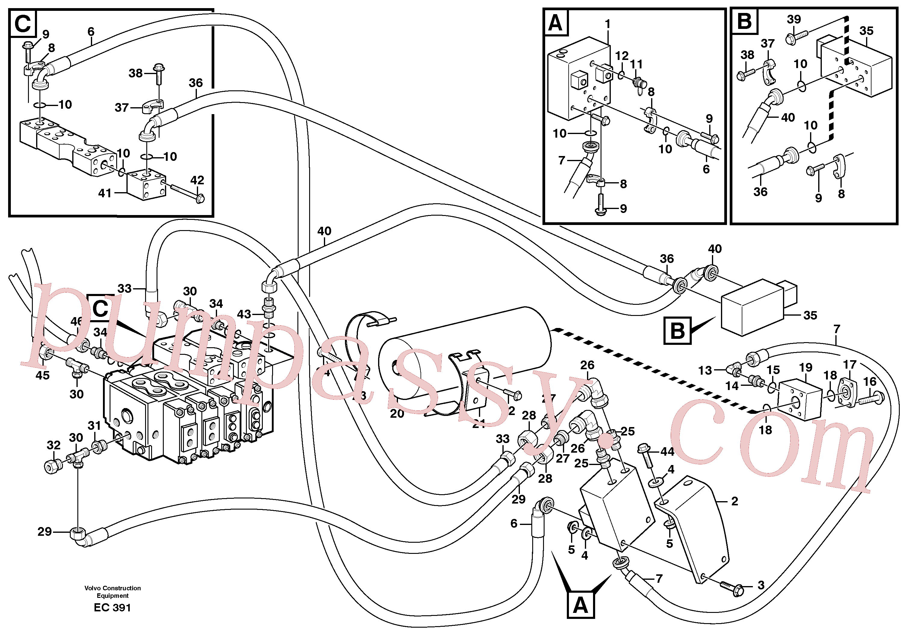 VOE11101827 for Volvo Boom suspension system(EC391 assembly)