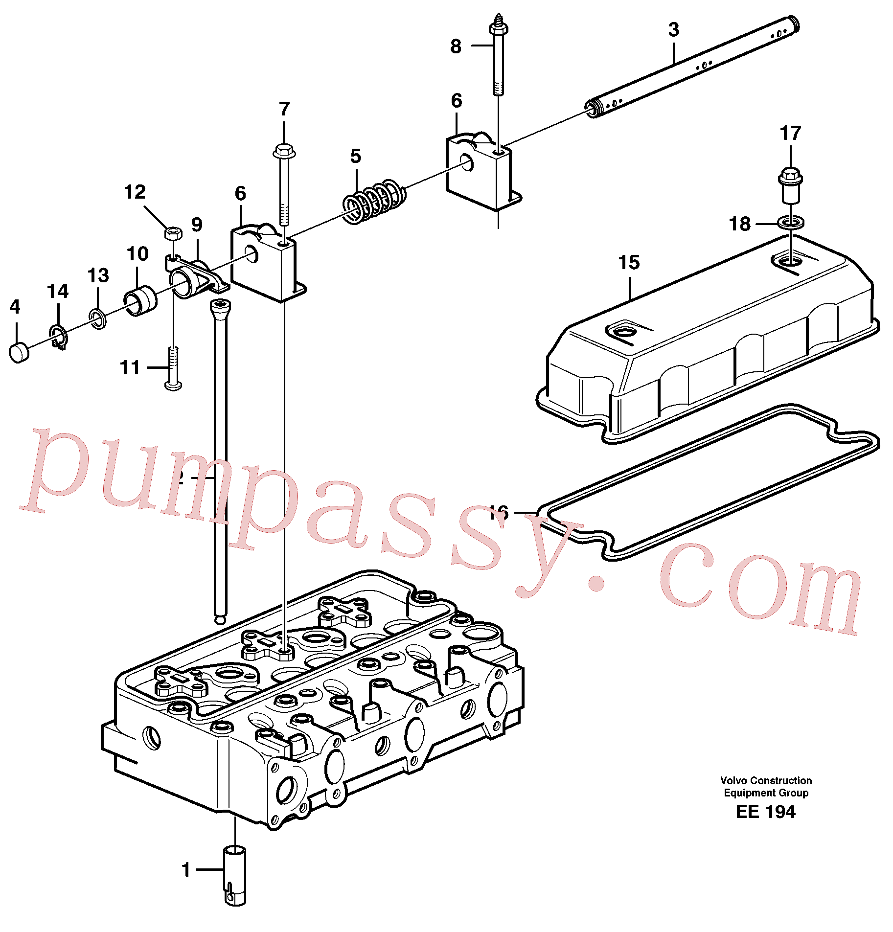 VOE941488 for Volvo Valve mechanism(EE194 assembly)