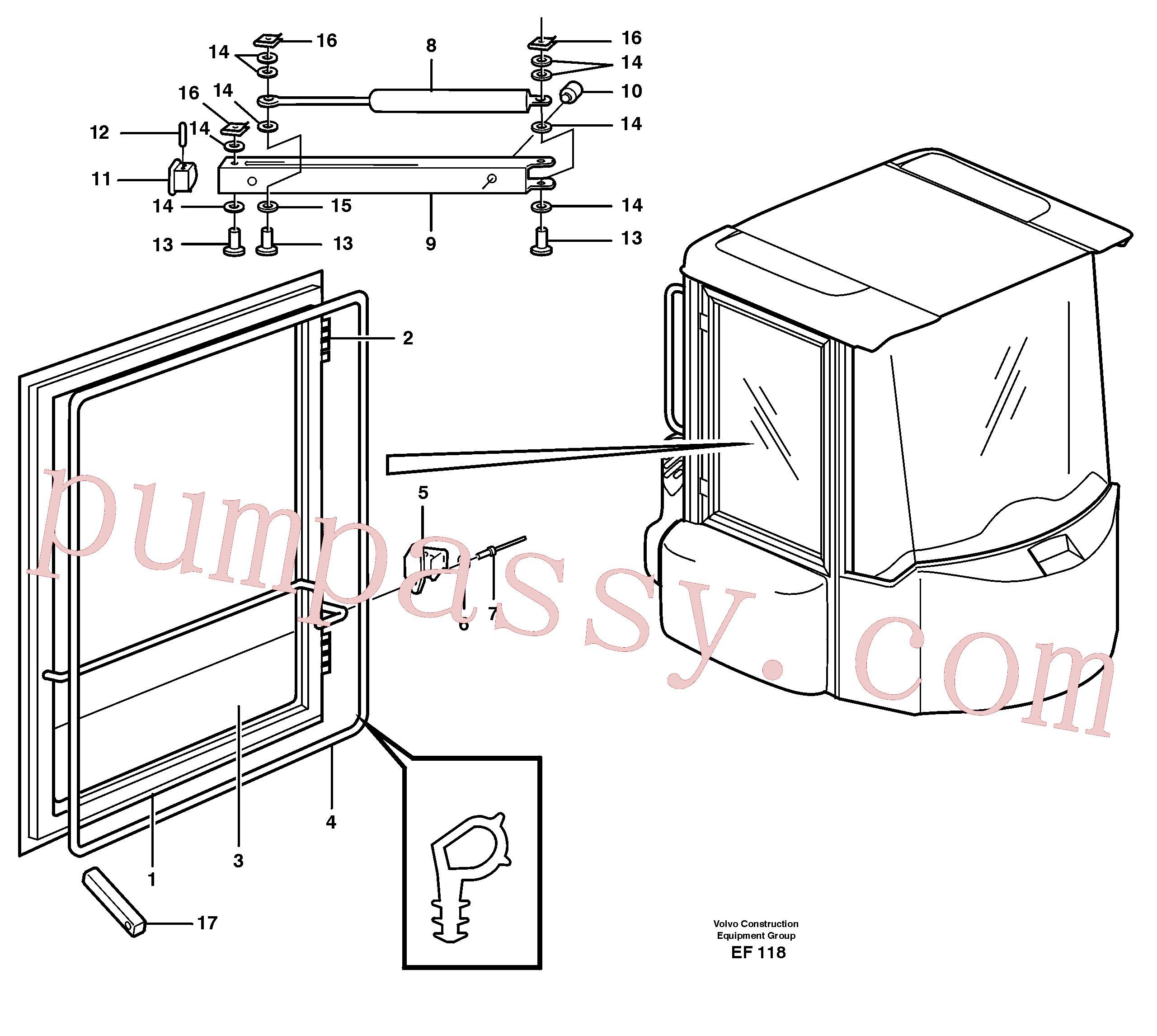 VOE13965596 for Volvo Windows(EF118 assembly)
