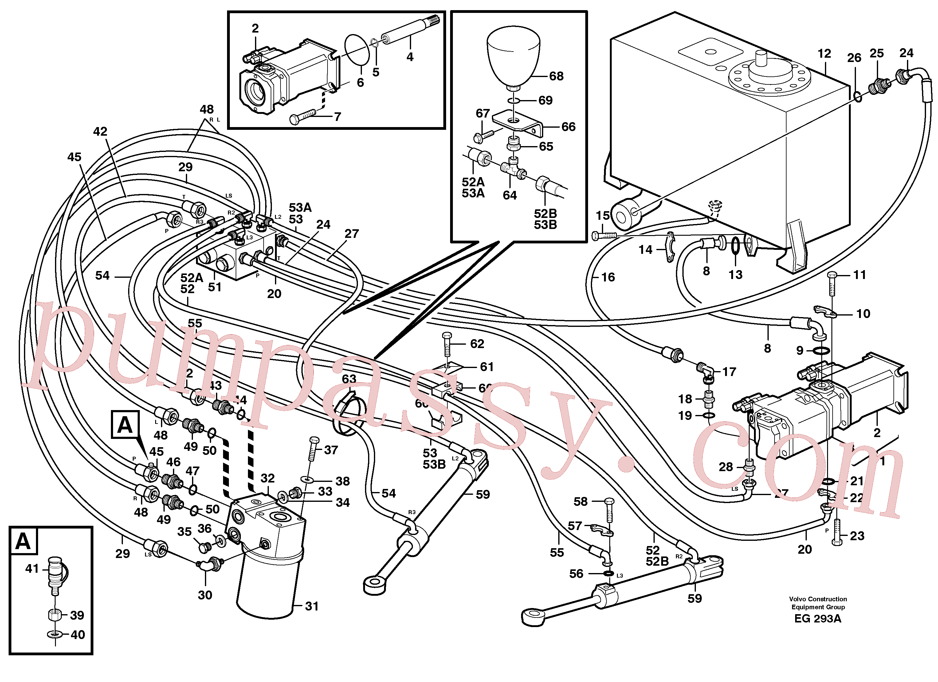 SA9511-42904 for Volvo Steering system(EG293A assembly)
