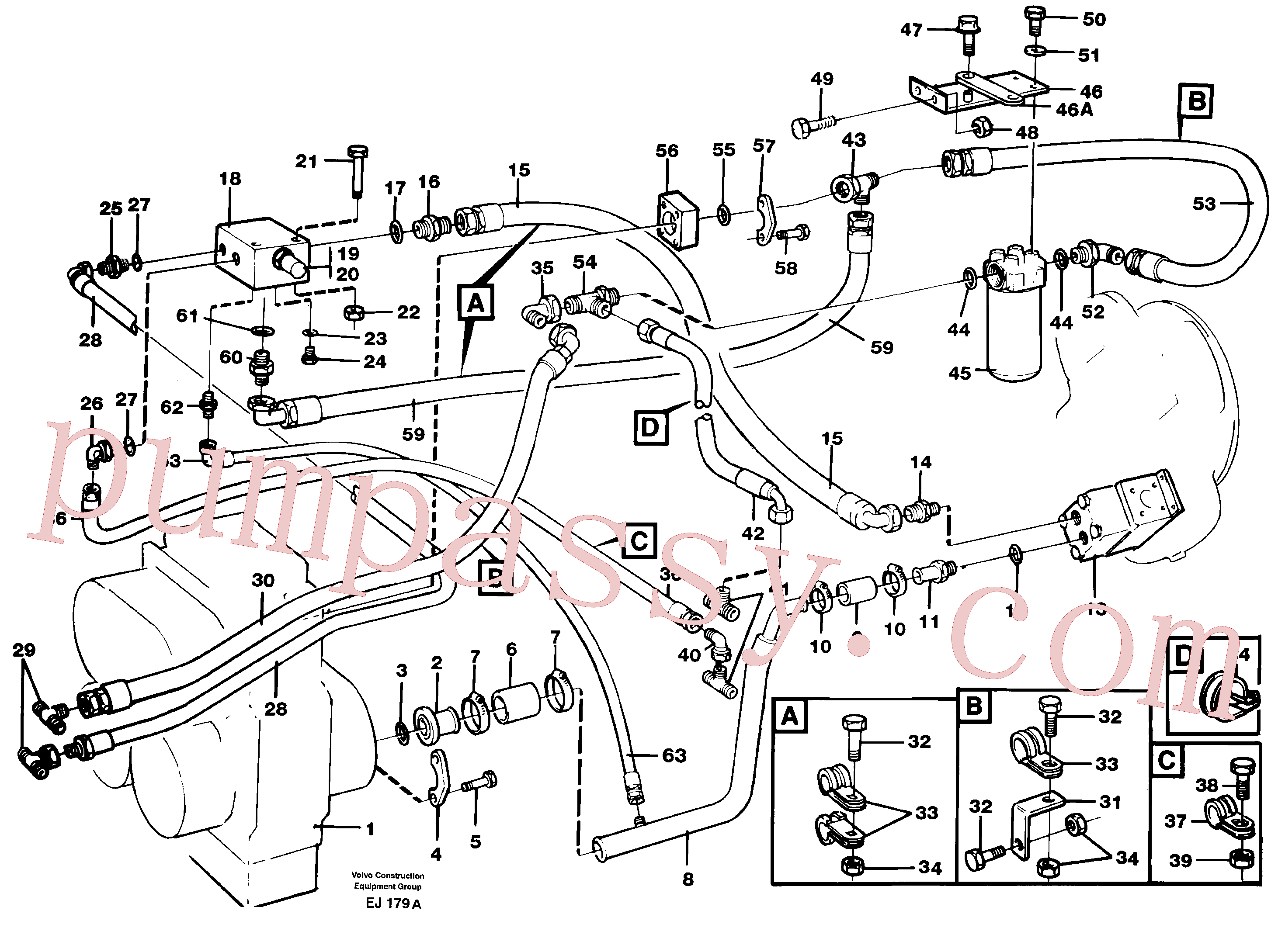 RM59923003 for Volvo Brake cooling system(EJ179A assembly)