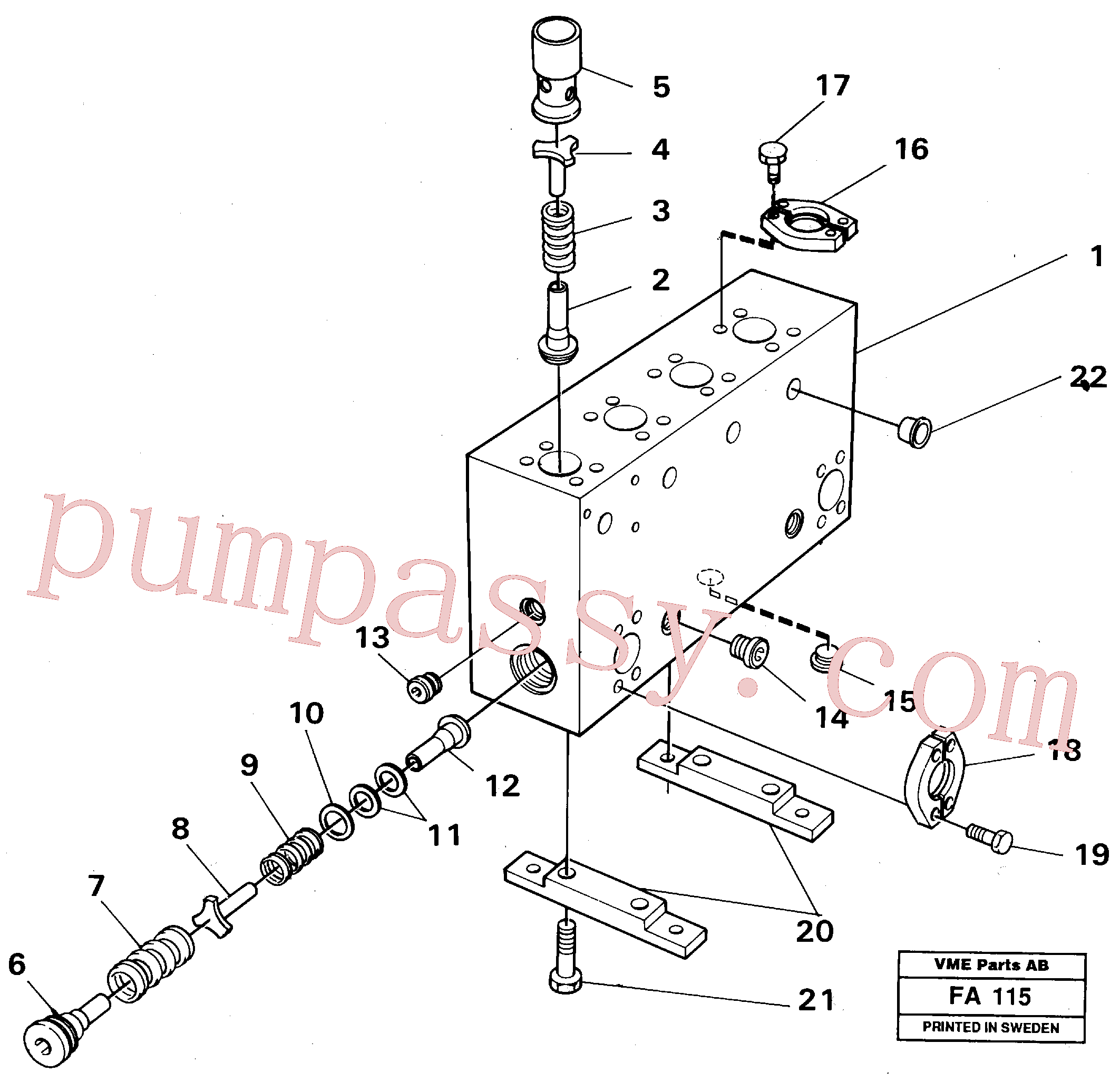 VOE14024207 for Volvo Connection board(FA115 assembly)