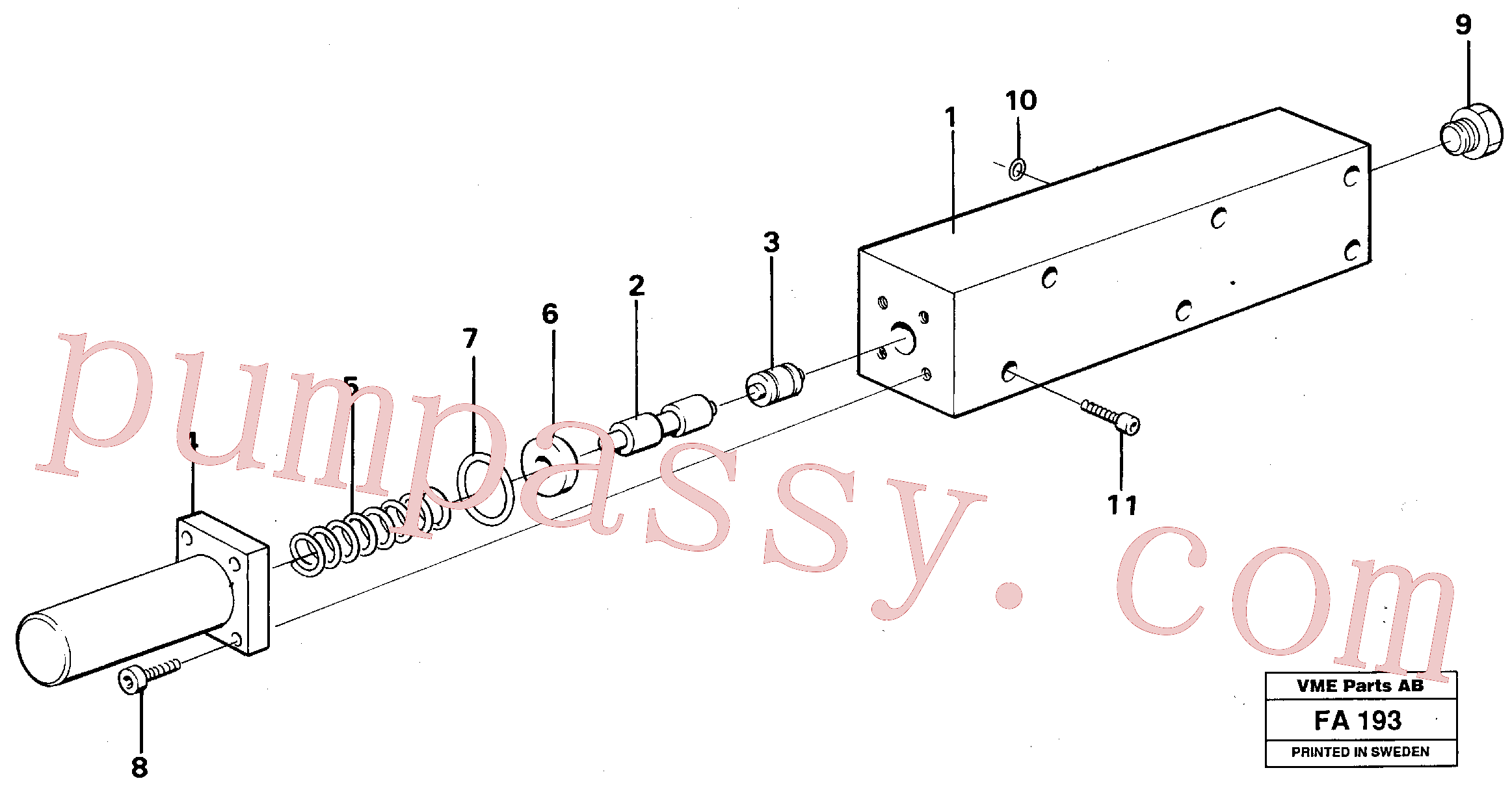 VOE14023237 for Volvo Fuel miser valve(FA193 assembly)