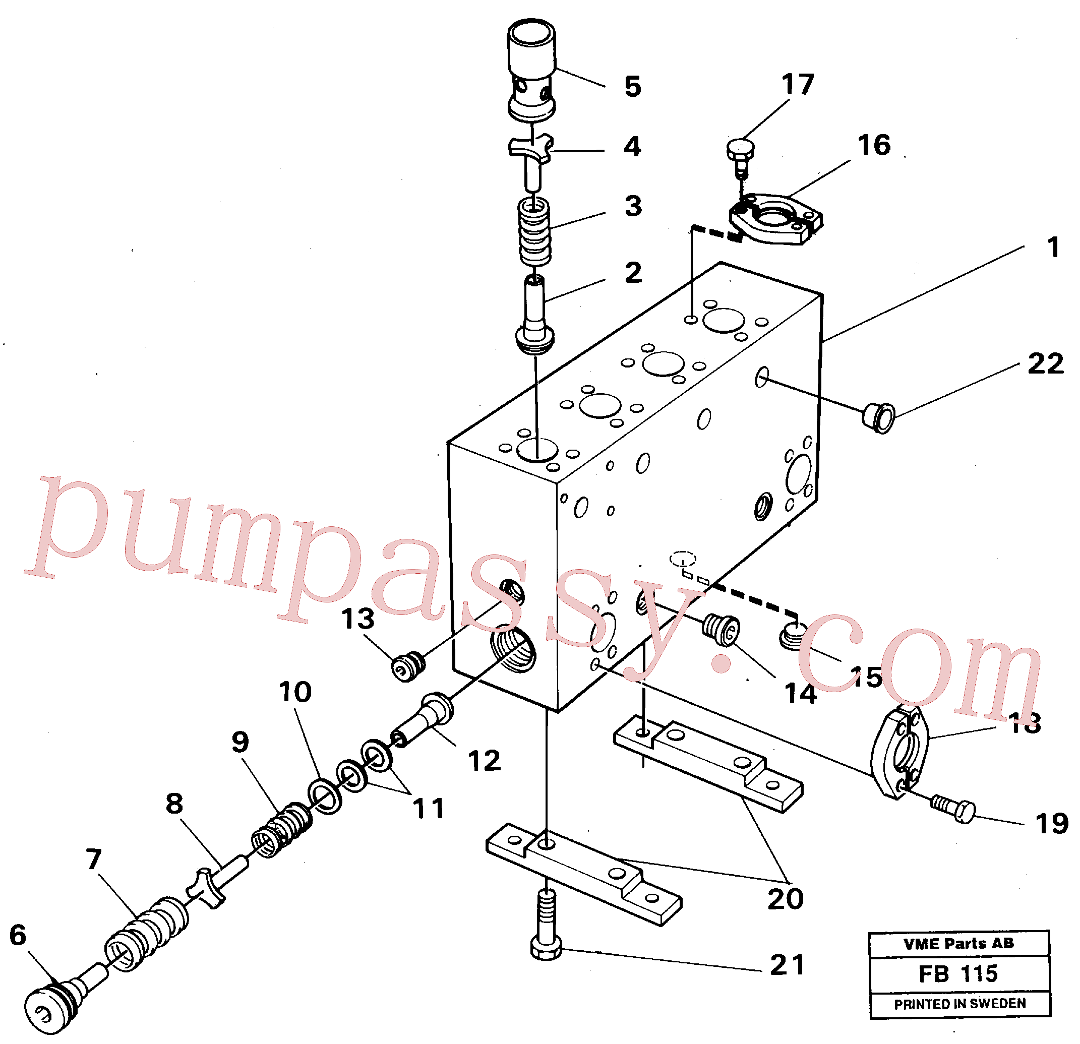 VOE14024207 for Volvo Connection board(FB115 assembly)