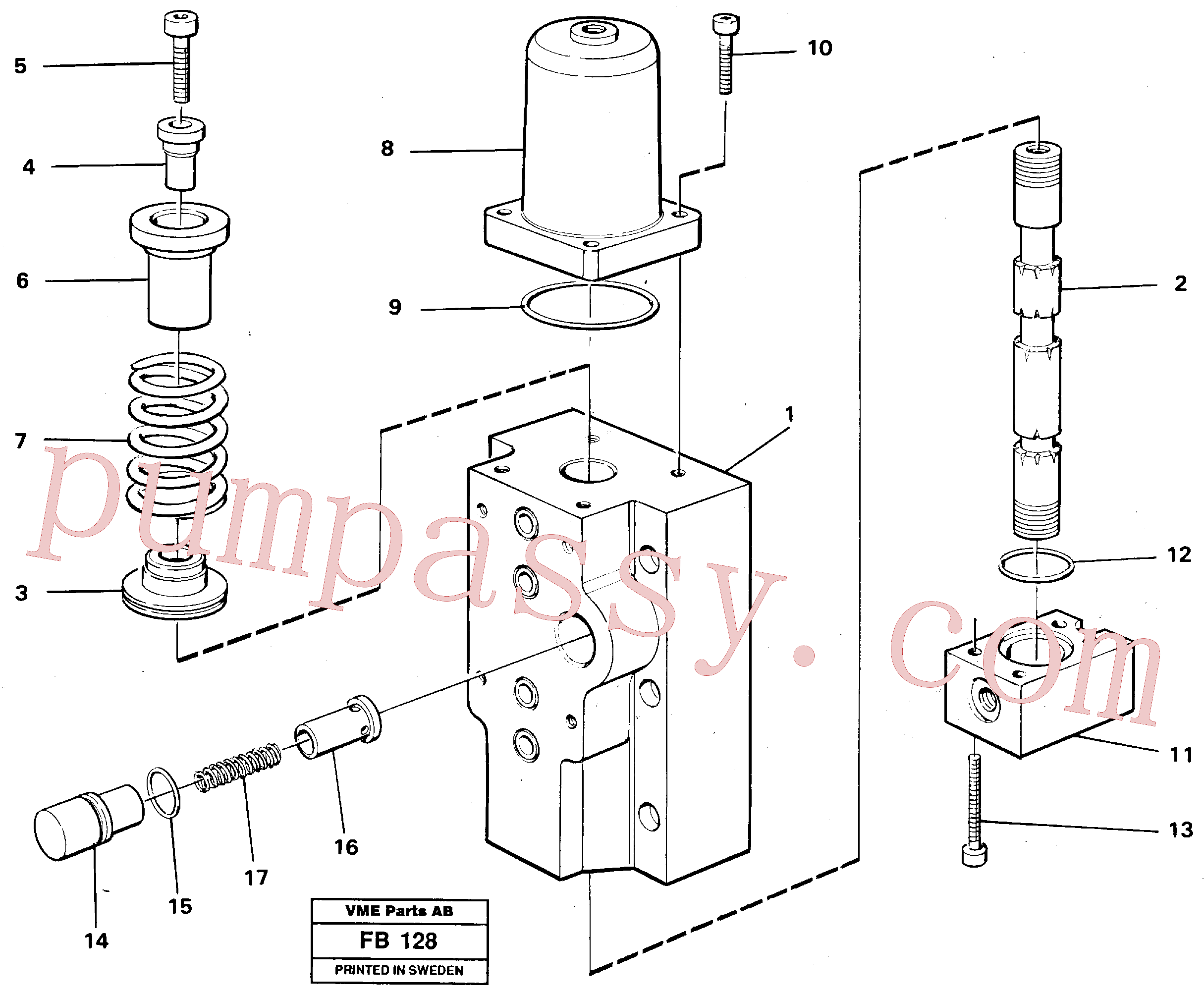 VOE14261818 for Volvo Four-way valves Primary(FB128 assembly)