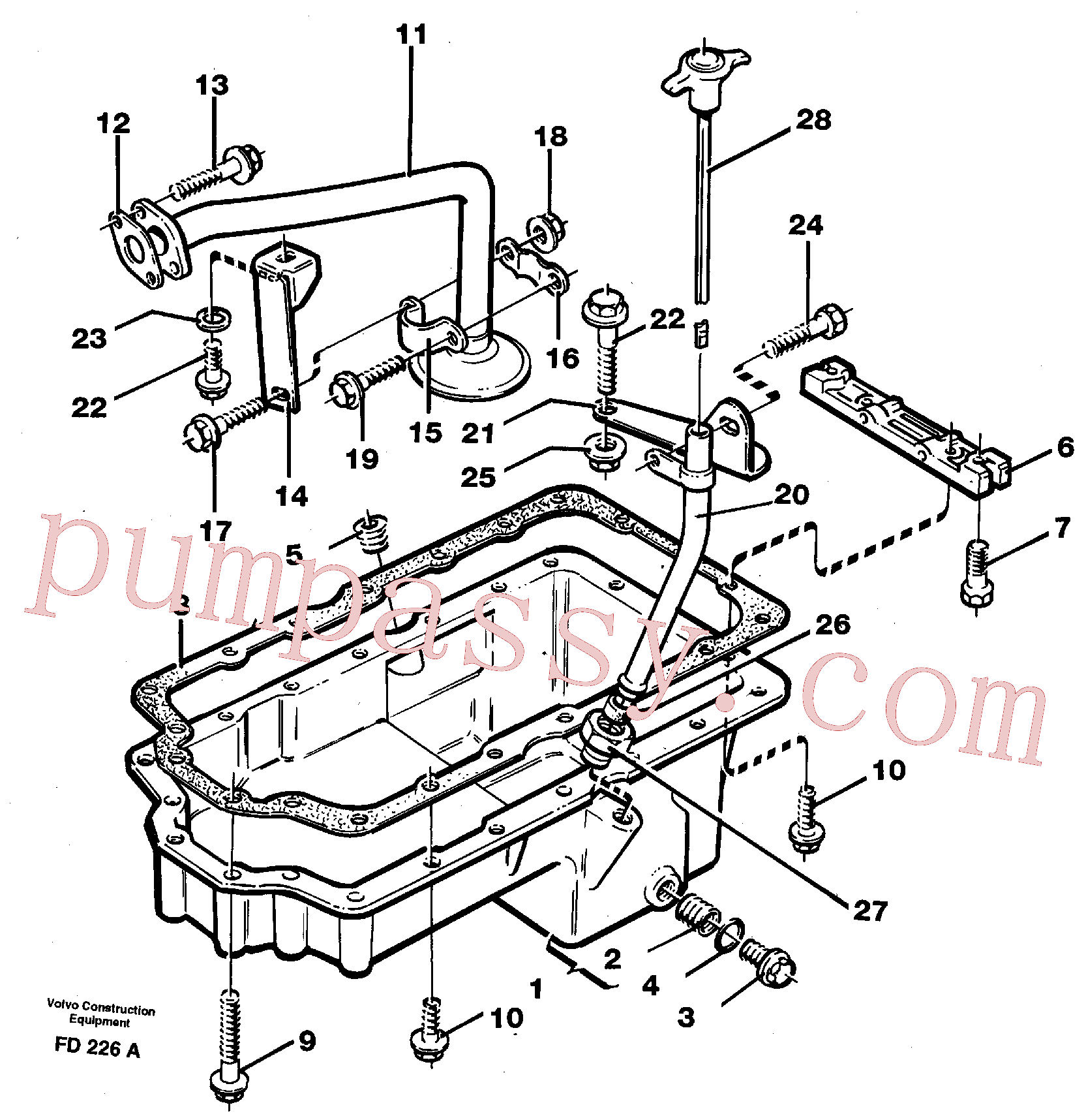 VOE11997968 for Volvo Oil sump(FD226A assembly)