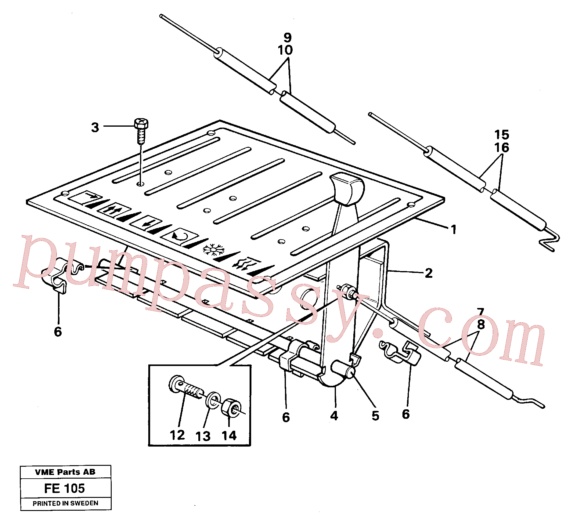 VOE14212925 for Volvo Heater control(FE105 assembly)