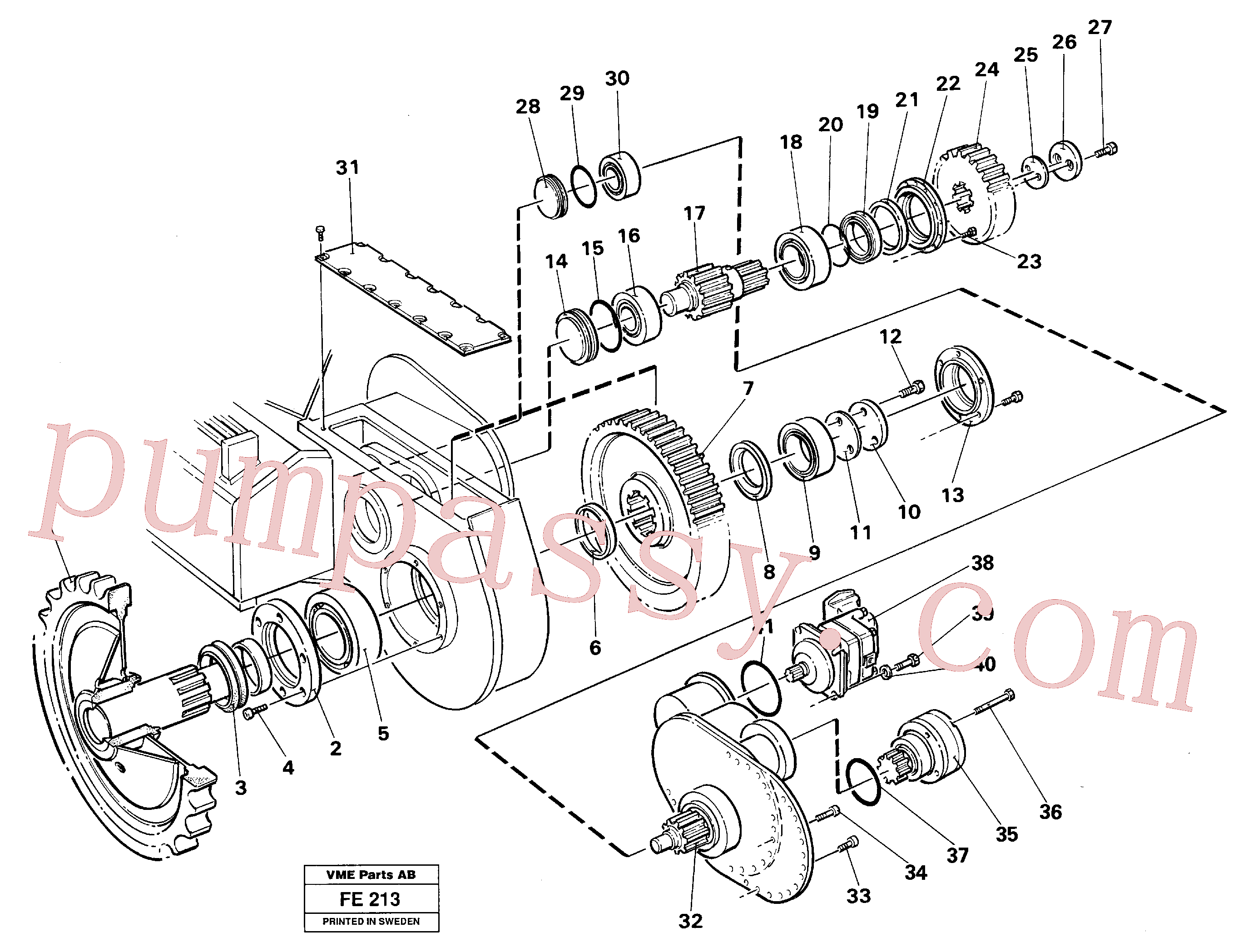 China Made VOE14046236 Adjusting washer parts for Volvo Excavator