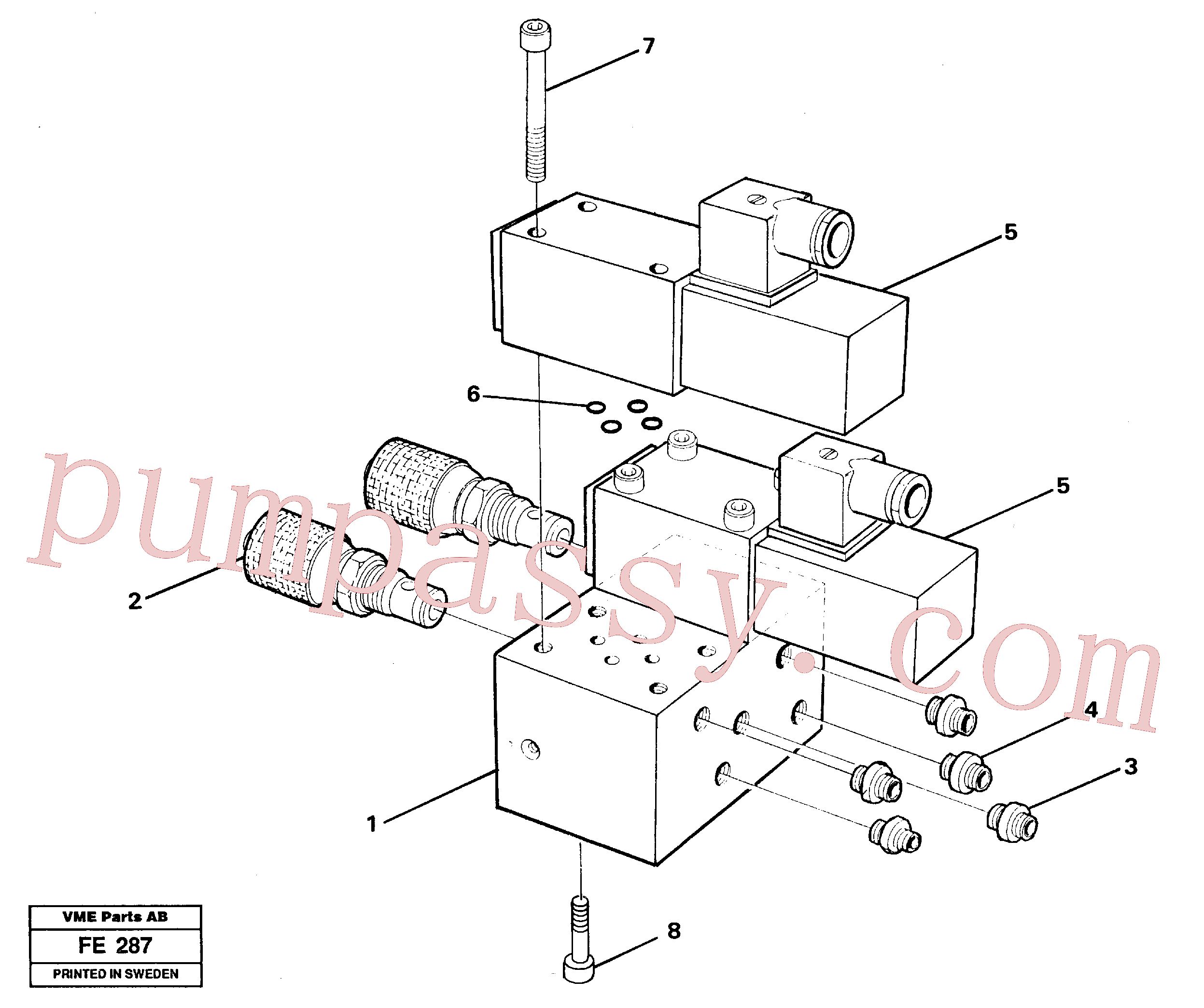 VOE14247352 for Volvo Control block for end position damp(FE287 assembly)